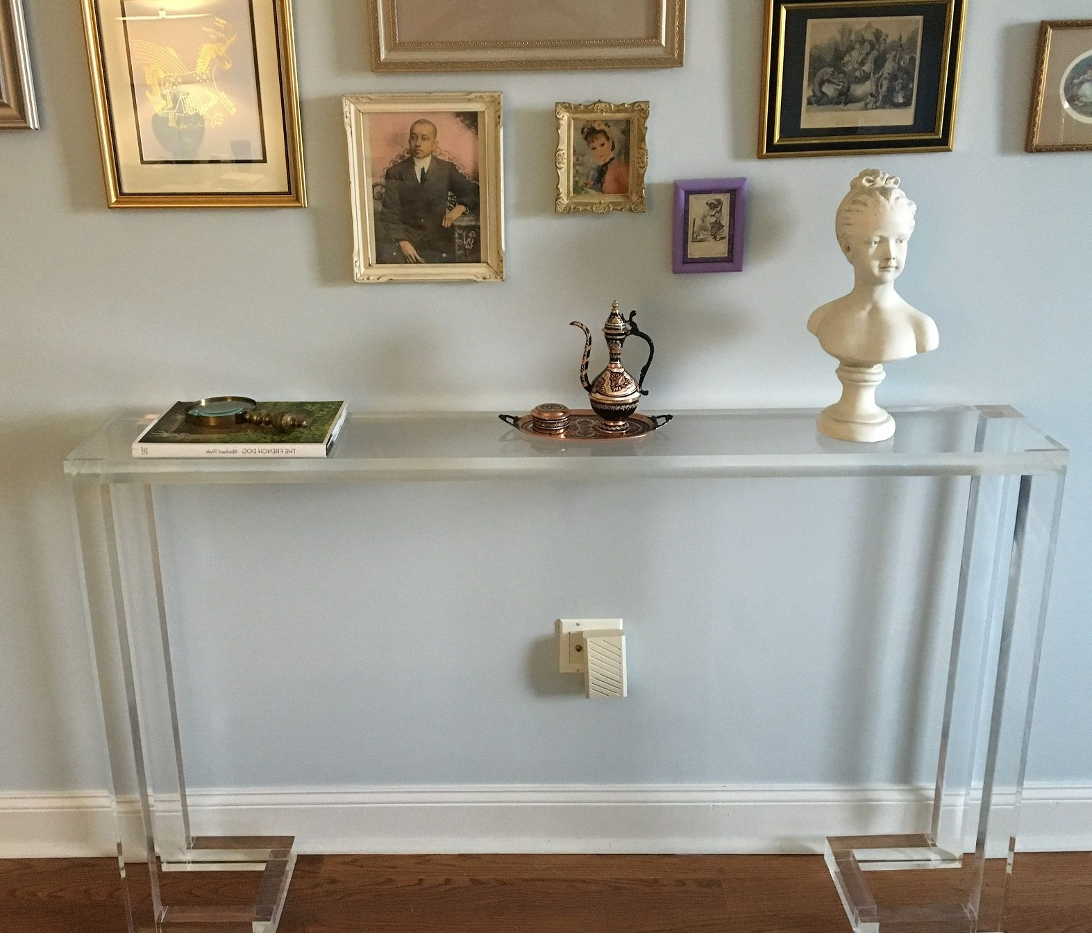 Custom Console Table – 1.5 Slab Top With Open Frame Basecustom Intended For Frame Console Tables (Gallery 15 of 20)