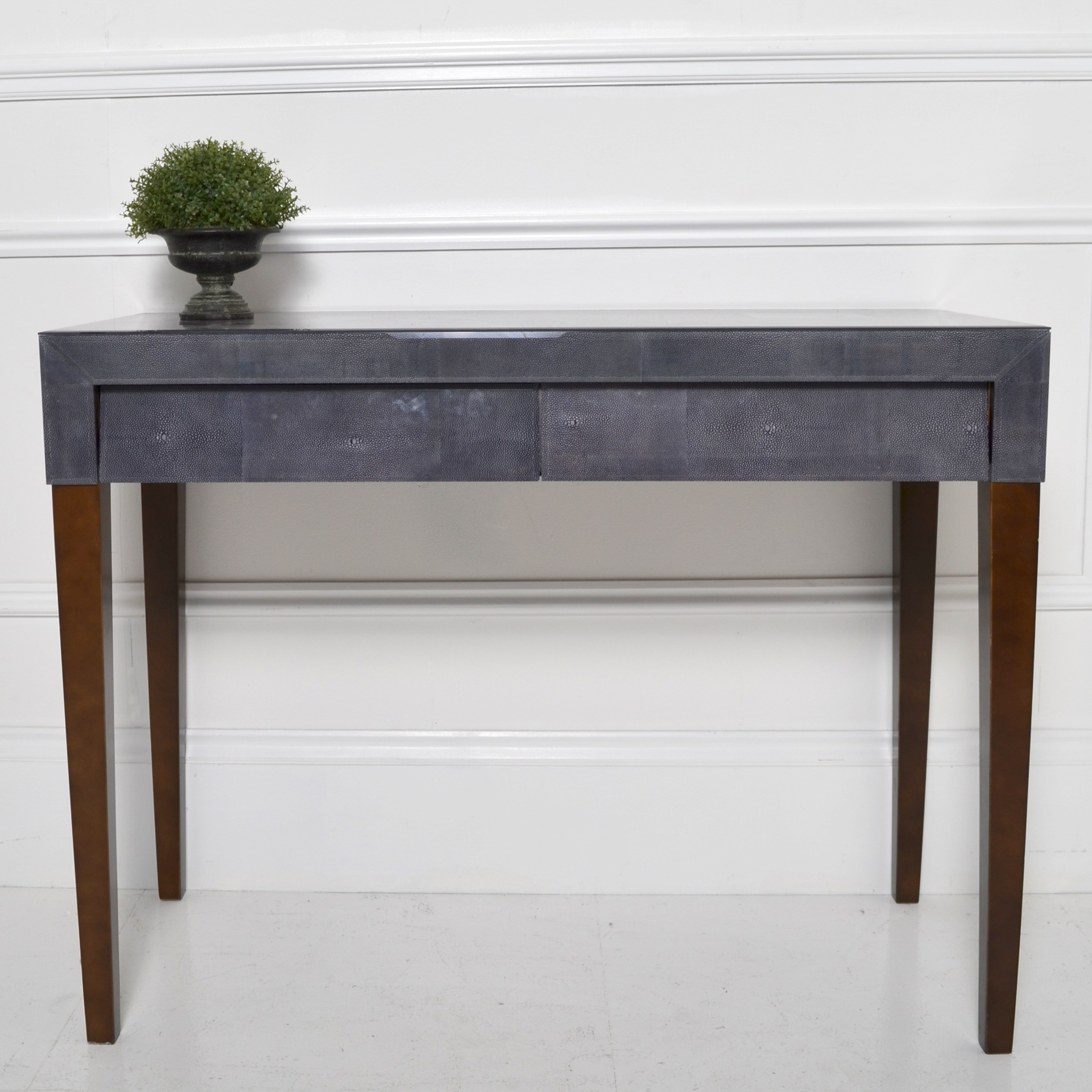 Dark Grey Shagreen Console | Console Tables | Living Room | Sweetpea For Grey Shagreen Media Console Tables (View 1 of 20)