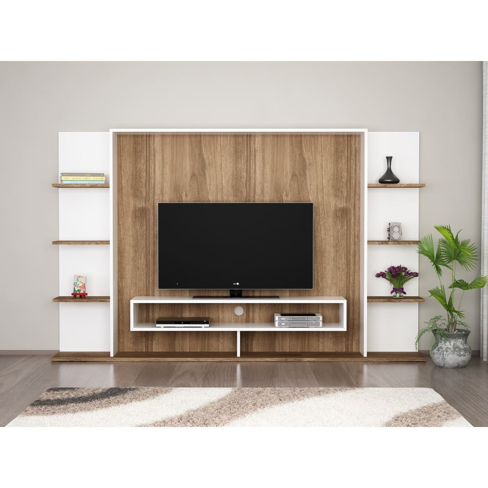 Dekorister Grace Tv Ünitesi Beyaz Ceviz | Tekzen Pertaining To Ducar 74 Inch Tv Stands (View 5 of 20)