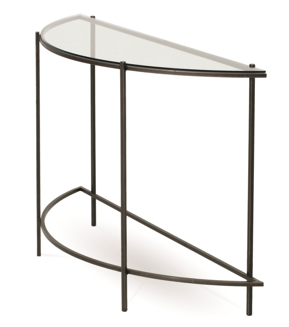 Demilune Console Table Throughout American Furniture Kerner Intended For Clairemont Demilune Console Tables (View 8 of 20)
