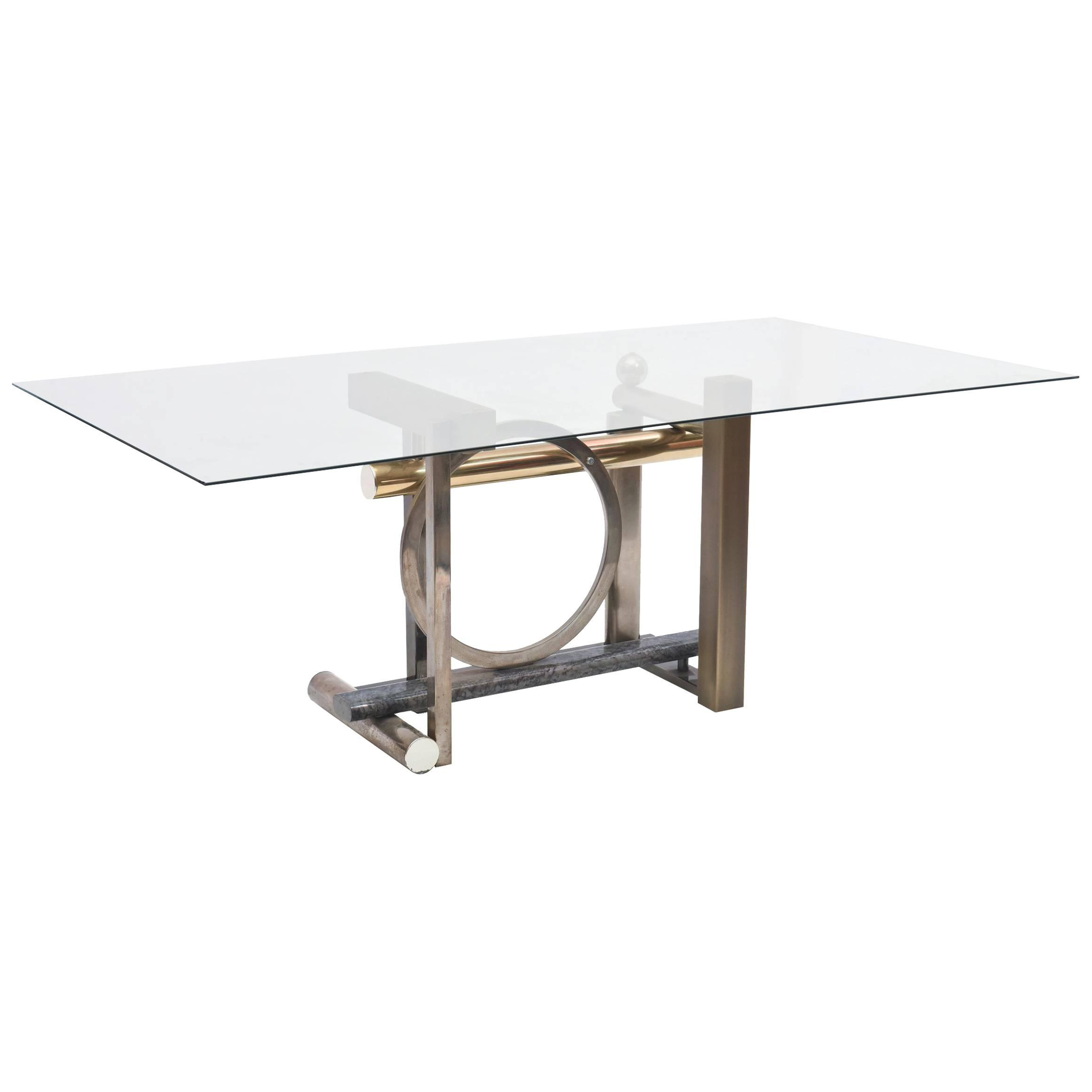 Design Institute America Furniture – 149 For Sale At 1stdibs In Mix Leather Imprint Metal Frame Console Tables (View 9 of 20)