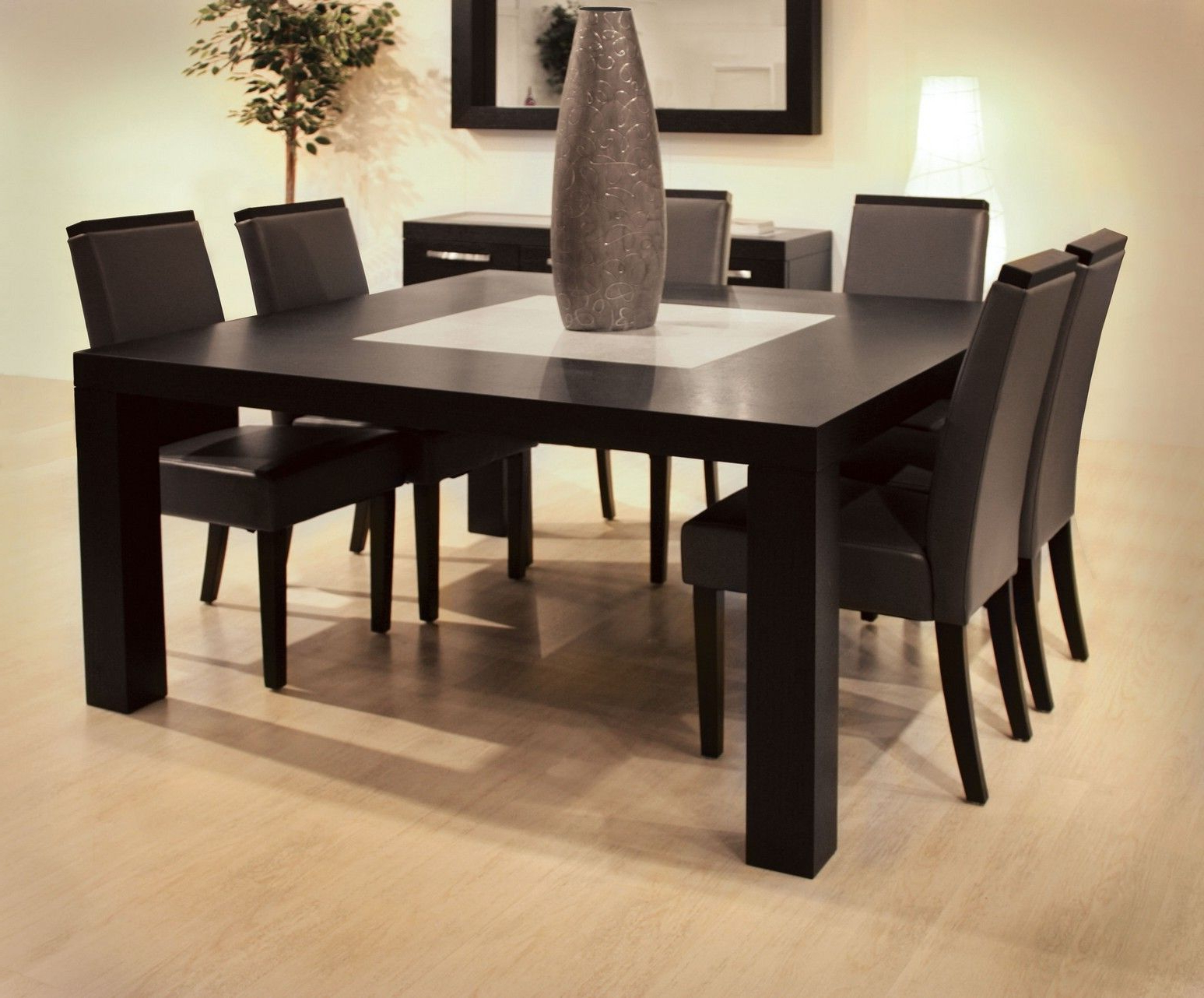 Dining Table Sets Wood Modern | Dining Room | Pinterest | Dining With Regard To Parsons Grey Solid Surface Top & Brass Base 48x16 Console Tables (View 19 of 19)