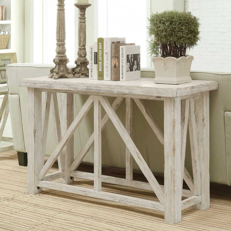Distressed Console Table White : Console Table – Classic Yet Elegant Throughout Antique White Distressed Console Tables (View 4 of 20)