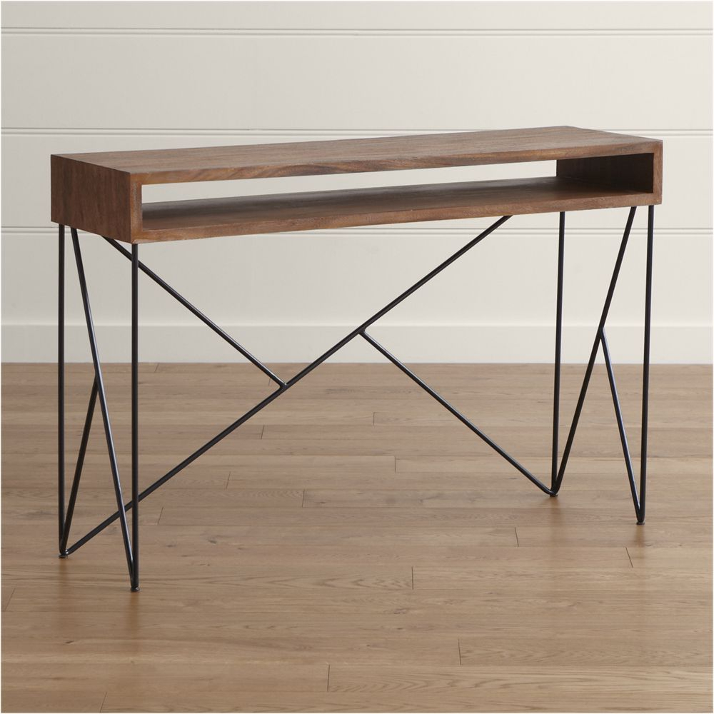 Dixon Console Table | Products | Pinterest | Console Tables Inside Parsons Black Marble Top & Dark Steel Base 48X16 Console Tables (Gallery 2 of 20)