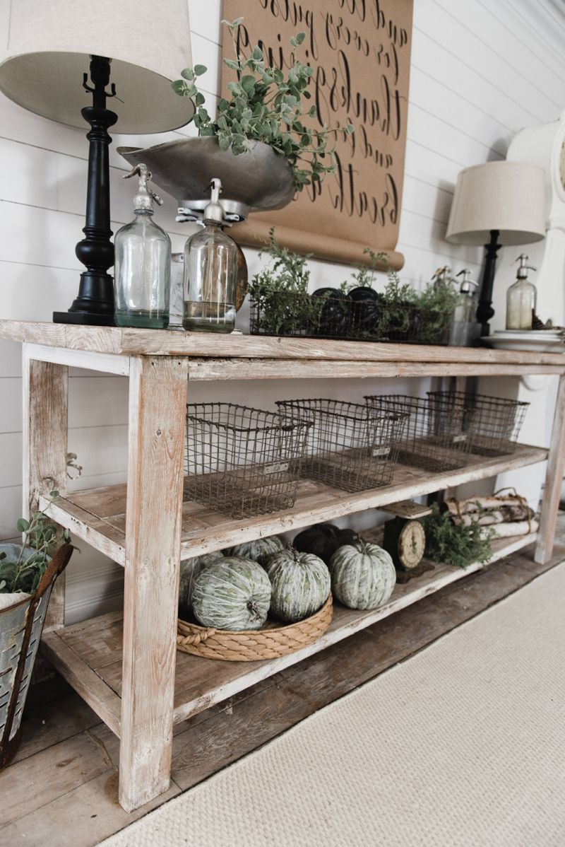 Diy Farmhouse Style Buffet | Liz Marie Blog | Farmhouse Decor, Home For Natural Wood Mirrored Media Console Tables (Gallery 16 of 20)