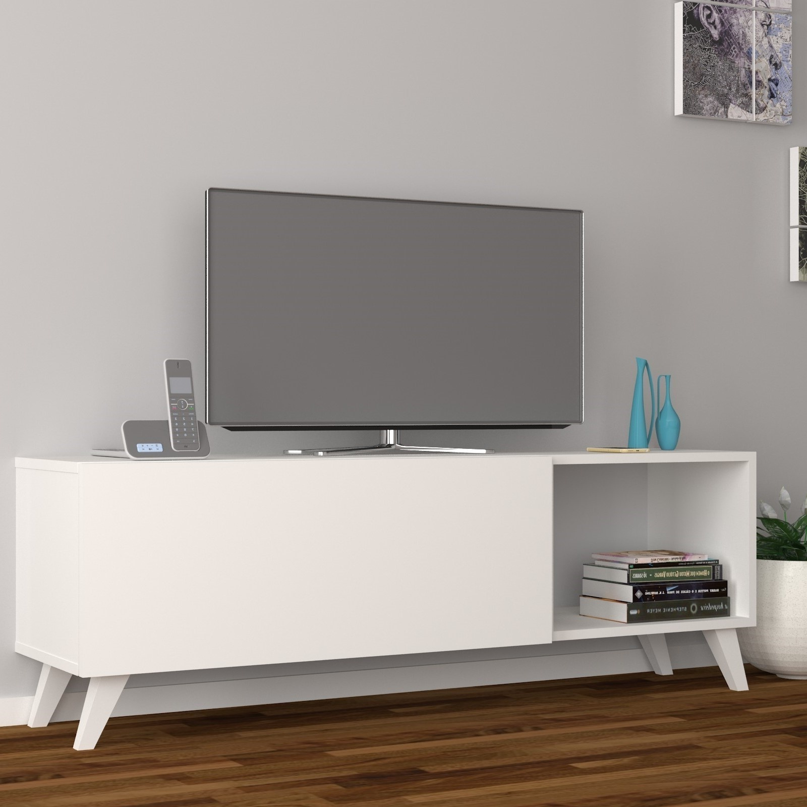 Dmodül Smart Tv Sehpası | Yukko Regarding Ducar 64 Inch Tv Stands (View 5 of 20)