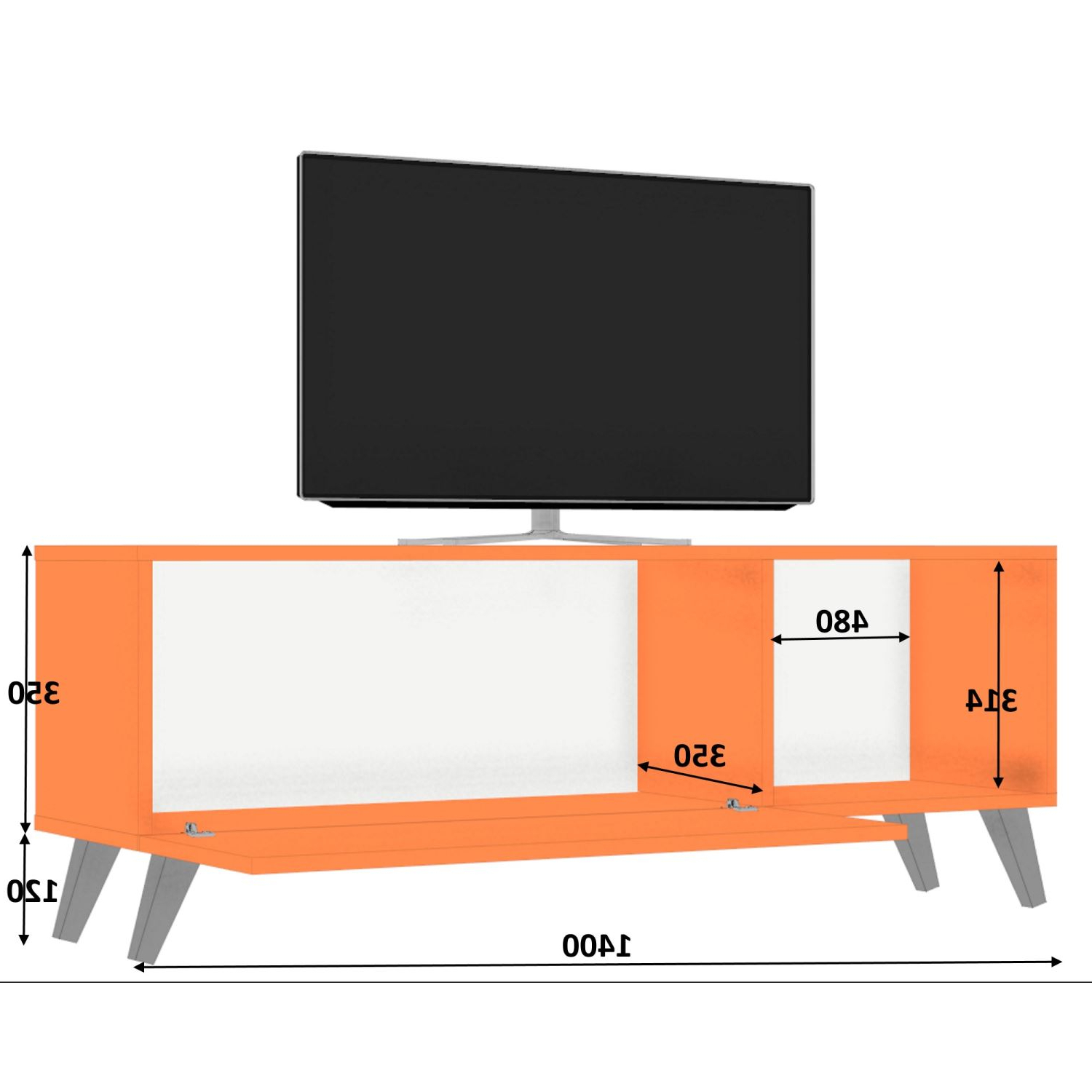 Dmodül Smart Tv Ünitesi 140 Cm | Dekorazon Pertaining To Ducar 74 Inch Tv Stands (View 8 of 20)