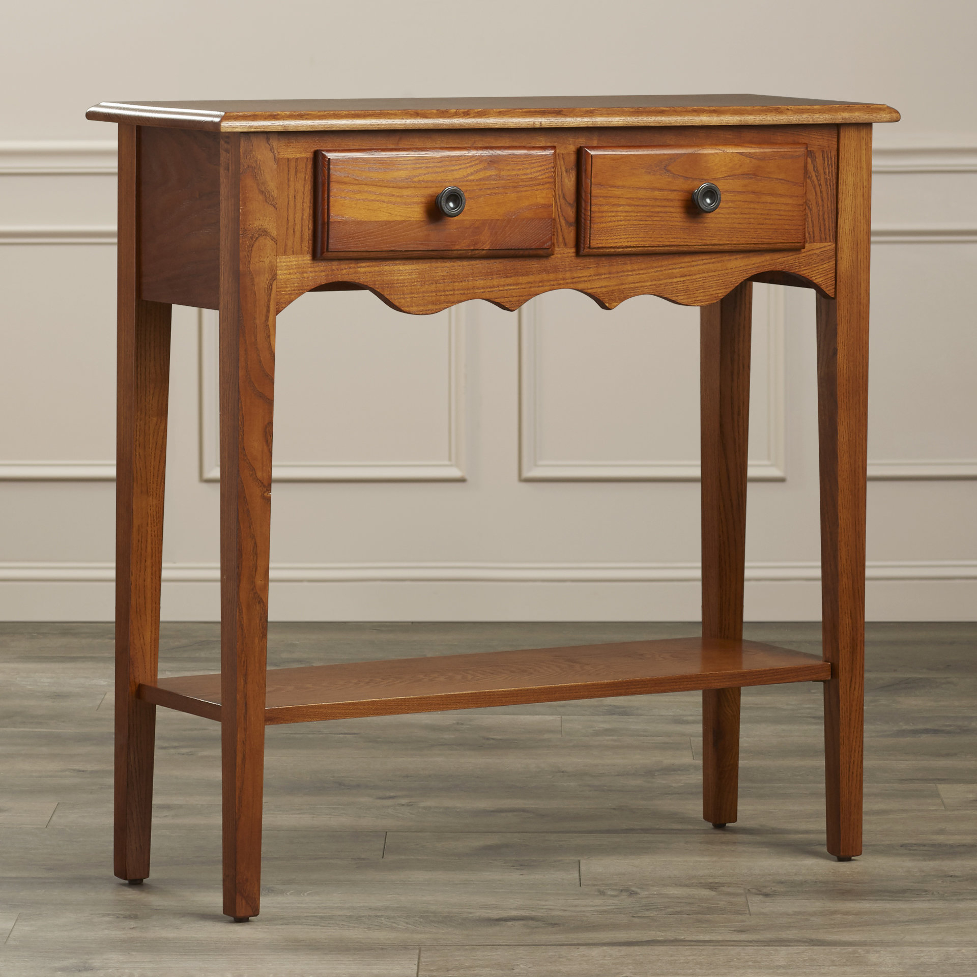Dovetail Console | Wayfair For Oak & Brass Stacking Media Console Tables (View 8 of 20)