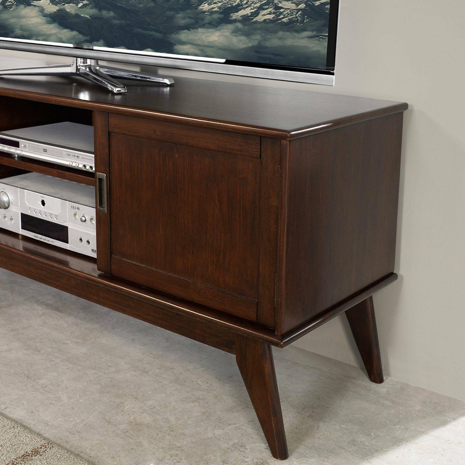 Draper Mid Century Medium Tv Media Stand 60 – Simpli Home | Ebay With Draper 62 Inch Tv Stands (View 12 of 20)