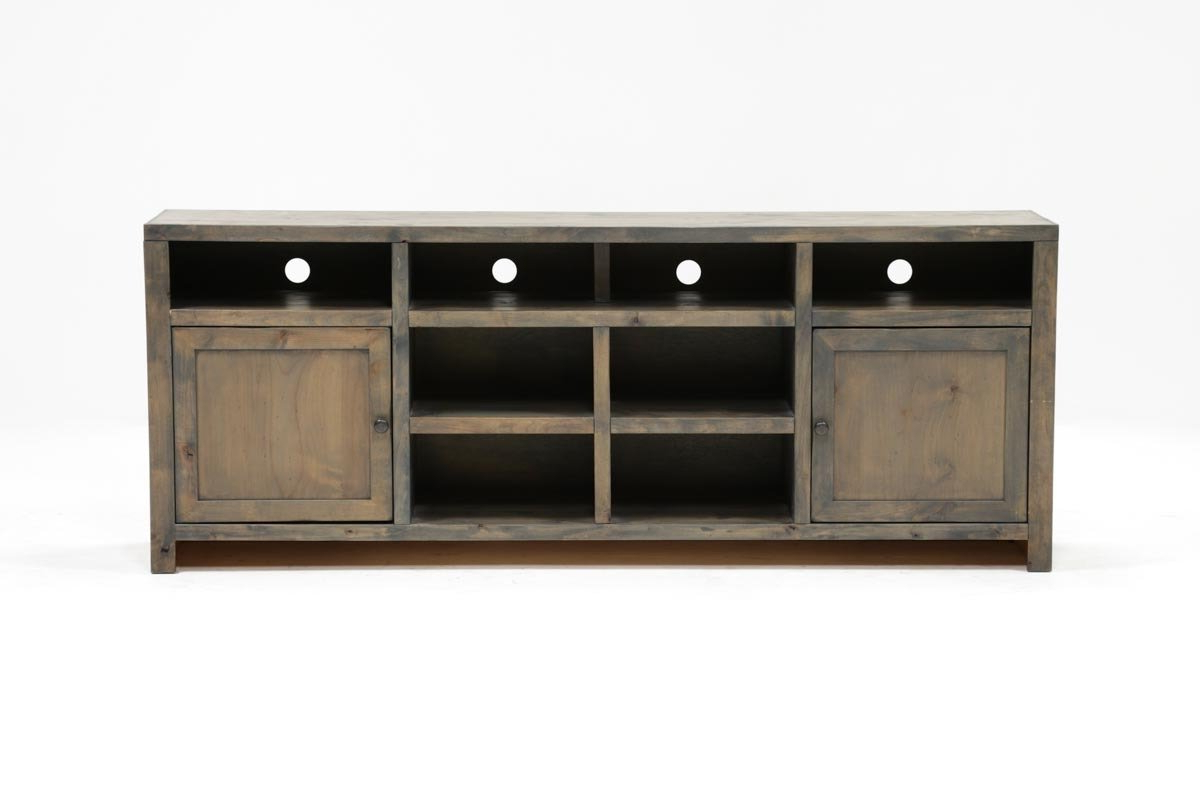 Ducar 84 Inch Tv Stand | Living Spaces Regarding Raven Grey Tv Stands (View 8 of 20)