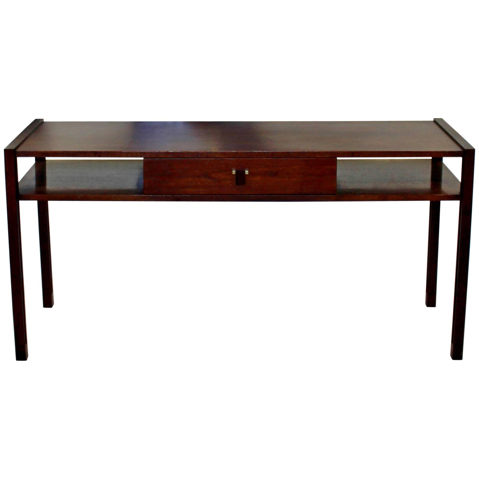 Dunbar Furniture Console Tables – 25 For Sale At 1Stdibs Inside Oak & Brass Stacking Media Console Tables (View 5 of 20)