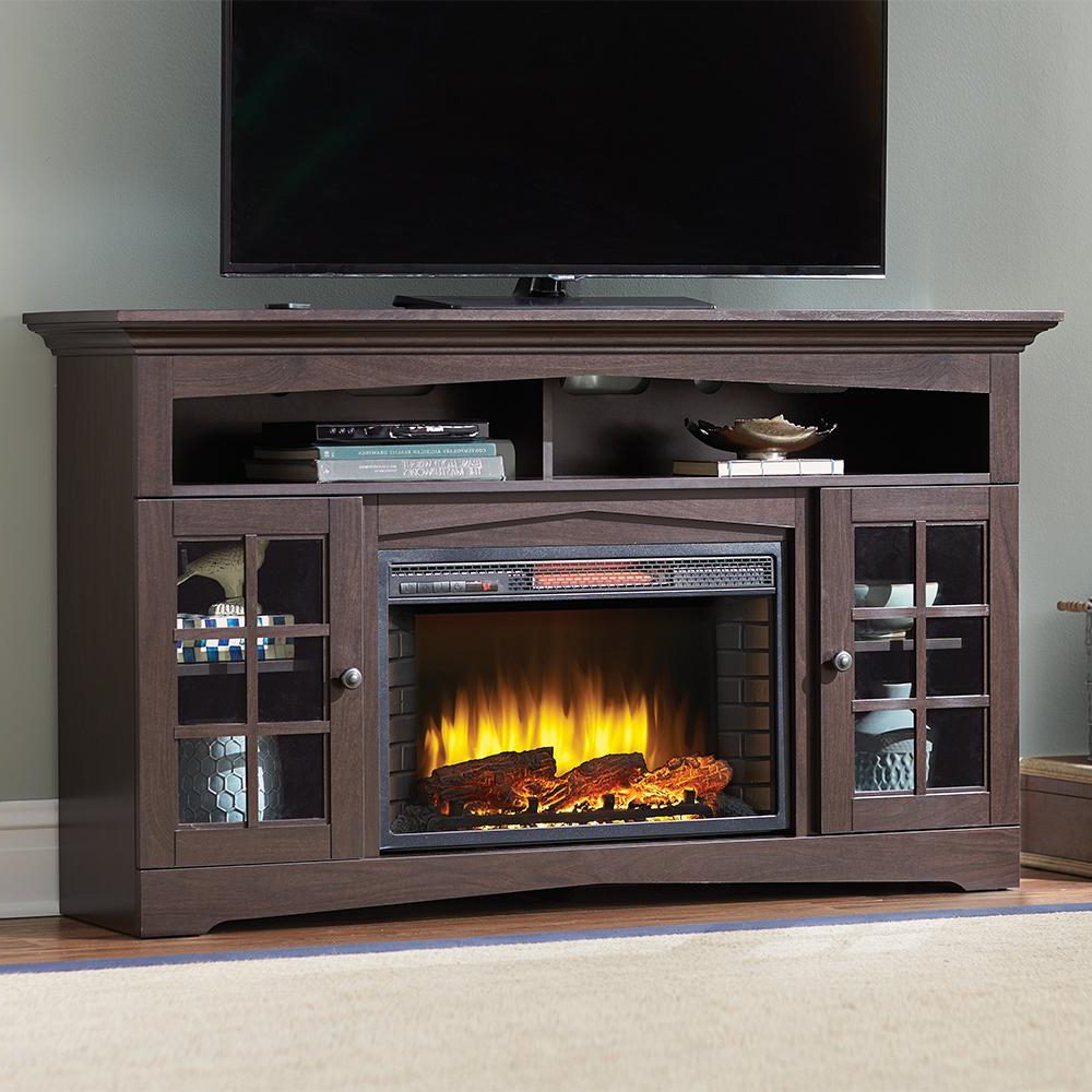 Electric Fireplaces – Fireplaces – The Home Depot Inside Dixon Black 65 Inch Highboy Tv Stands (Gallery 5 of 20)