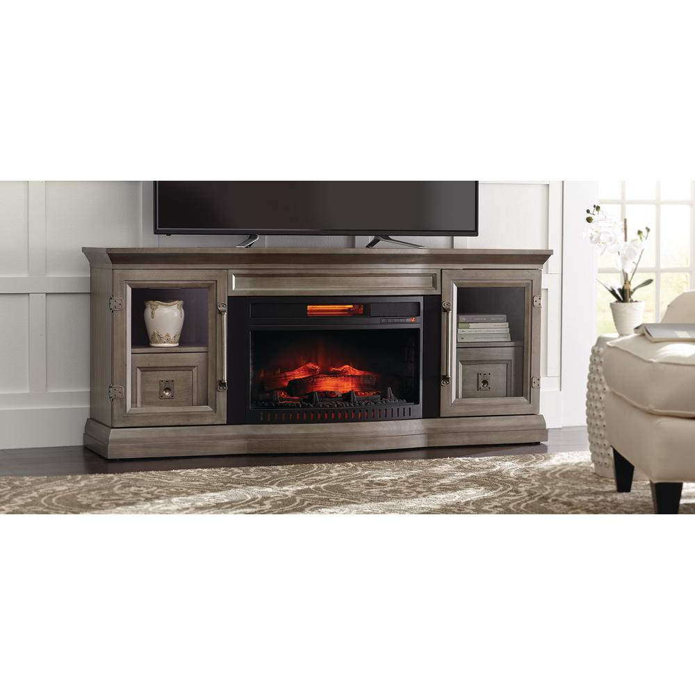 Electric Fireplaces – Fireplaces – The Home Depot Pertaining To Dixon Black 65 Inch Highboy Tv Stands (View 13 of 20)