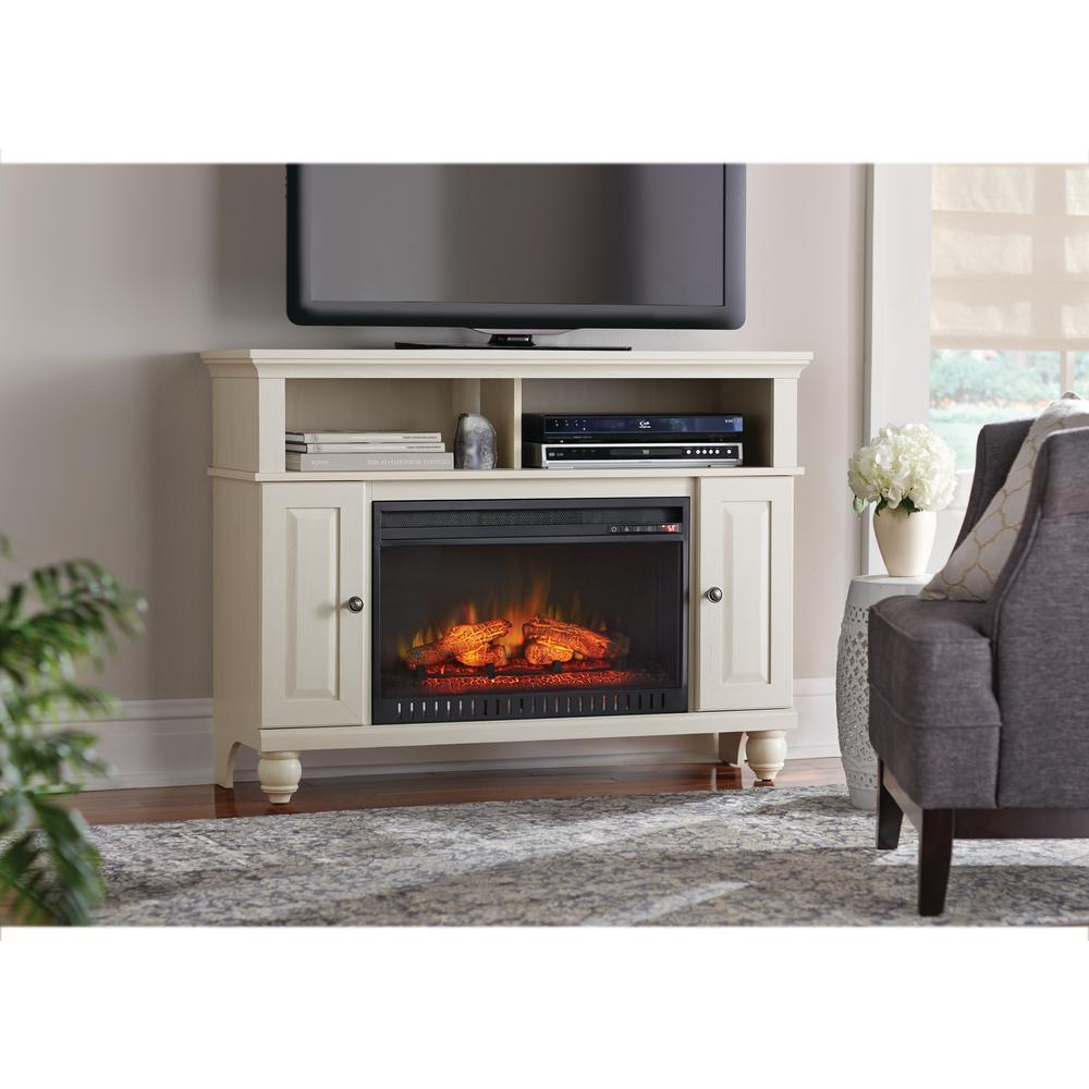 Electric Fireplaces – Fireplaces – The Home Depot Regarding Dixon Black 65 Inch Highboy Tv Stands (View 4 of 20)