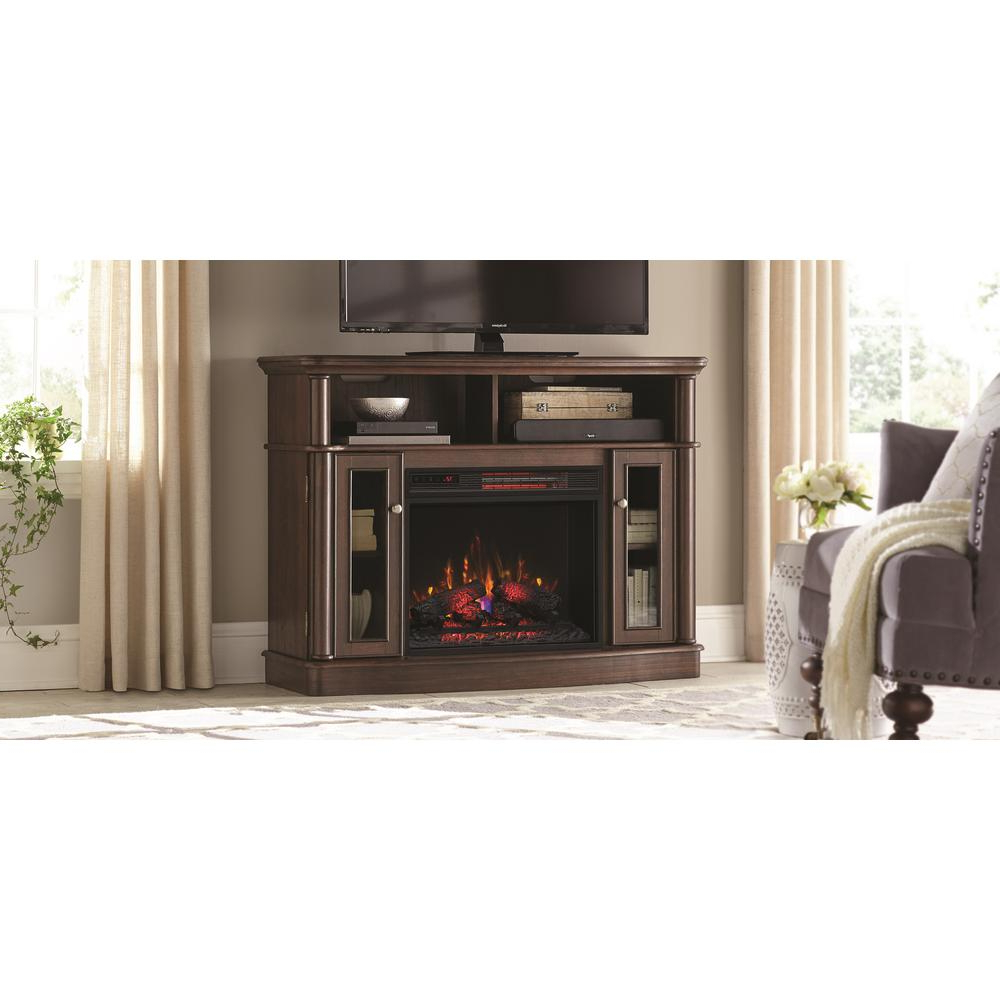 Electric Fireplaces – Fireplaces – The Home Depot With Regard To Dixon Black 65 Inch Highboy Tv Stands (View 10 of 20)