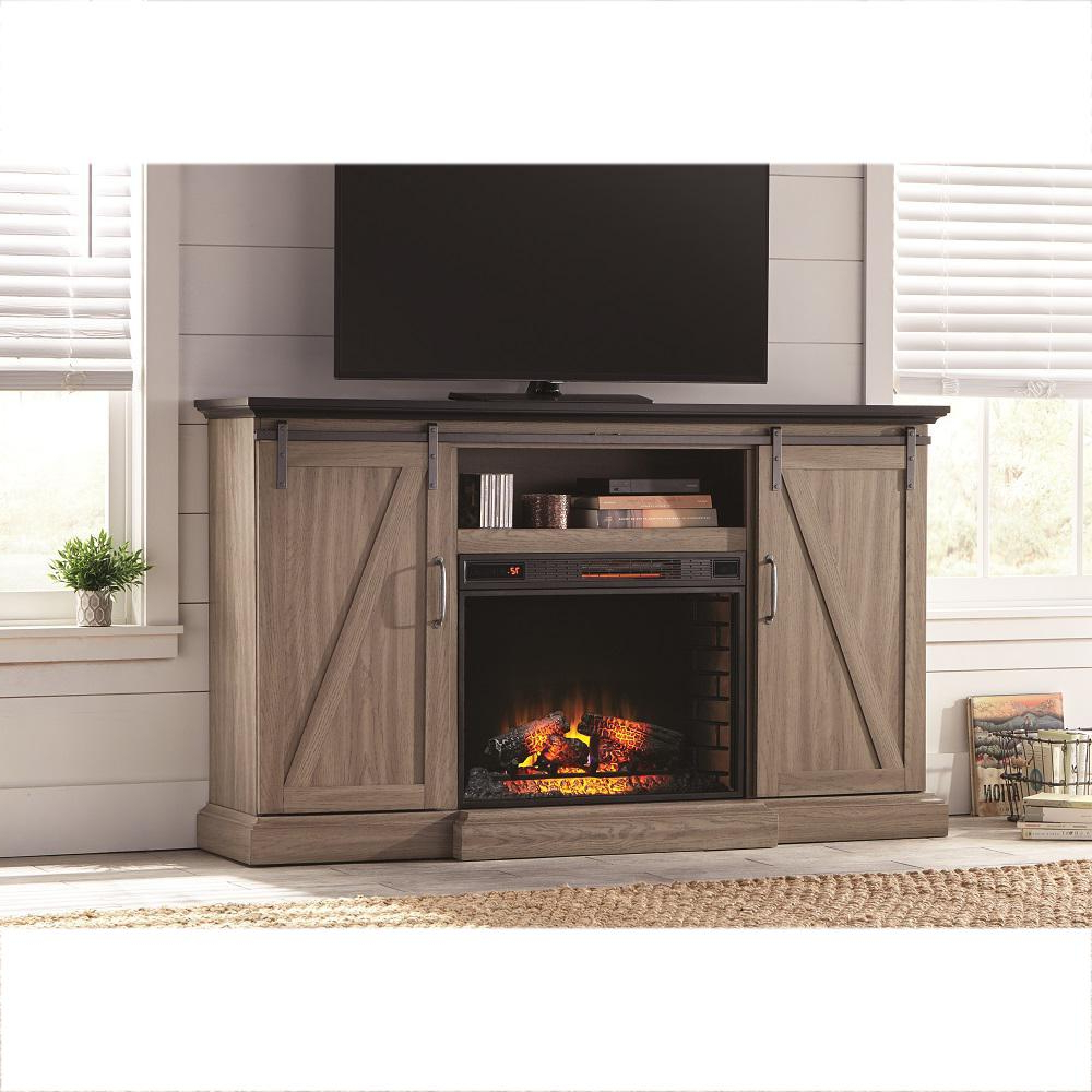 Electric Fireplaces – Fireplaces – The Home Depot With Regard To Dixon Black 65 Inch Highboy Tv Stands (Gallery 8 of 20)