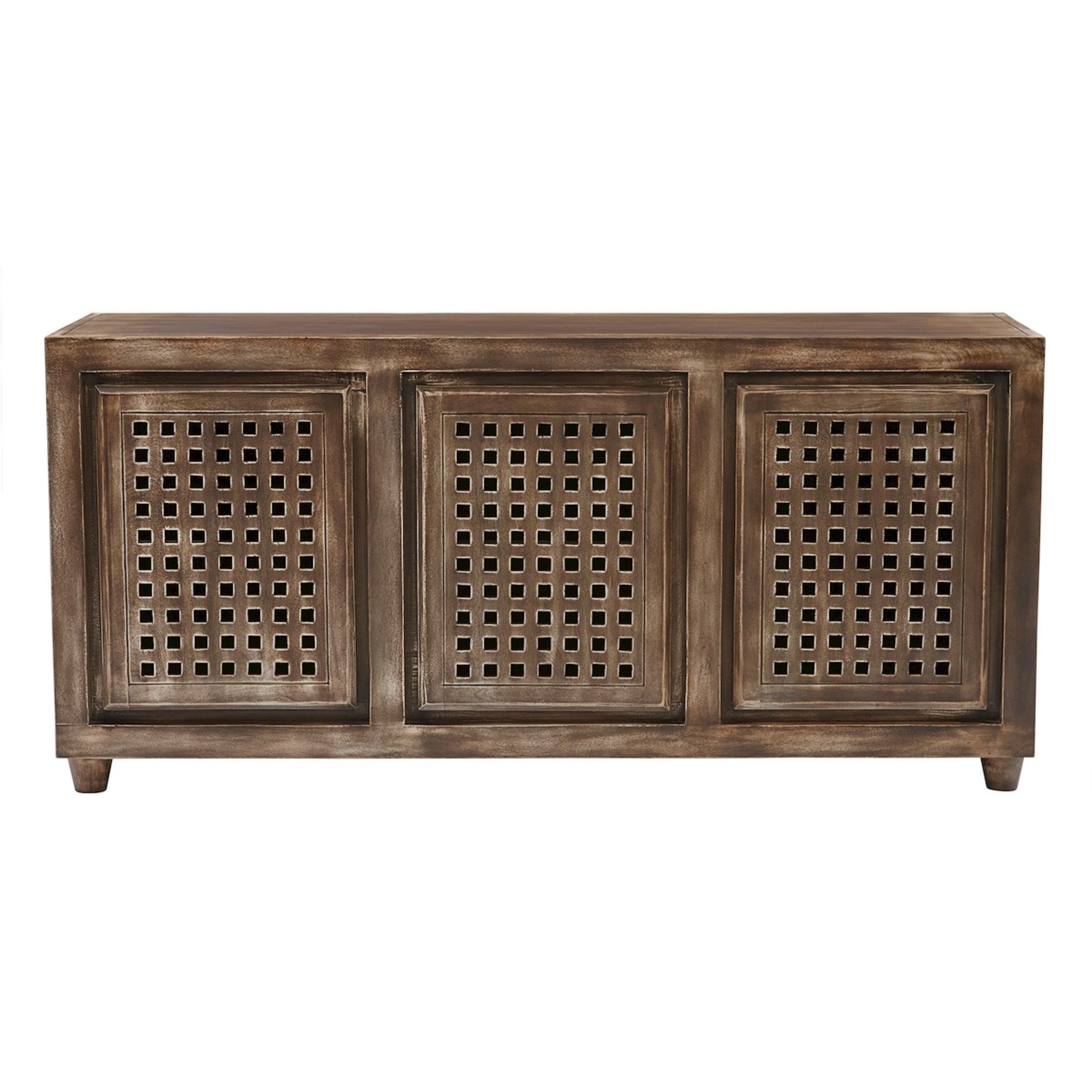 Elk Lighting Gladys Brow Wood Tone Accent Console (three Drawer Pertaining To Walters Media Console Tables (View 17 of 20)