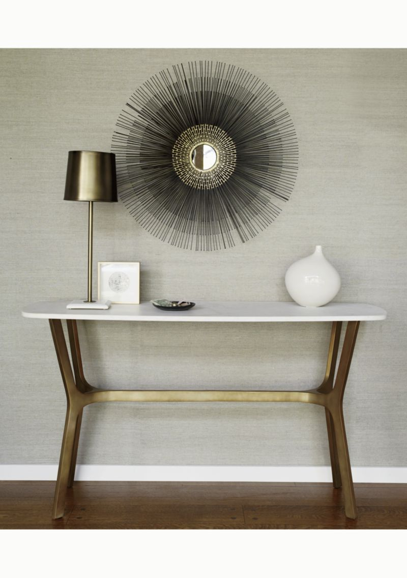 Elke Marble Console Table | Crate And Barrel | Living Room/sitting Pertaining To Elke Marble Console Tables With Brass Base (View 2 of 20)