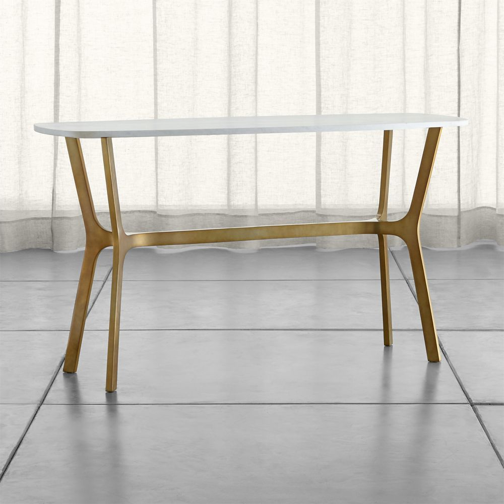 Elke Marble Console Table – Crate And Barrel | Products | Pinterest Regarding Elke Marble Console Tables With Brass Base (Gallery 1 of 20)