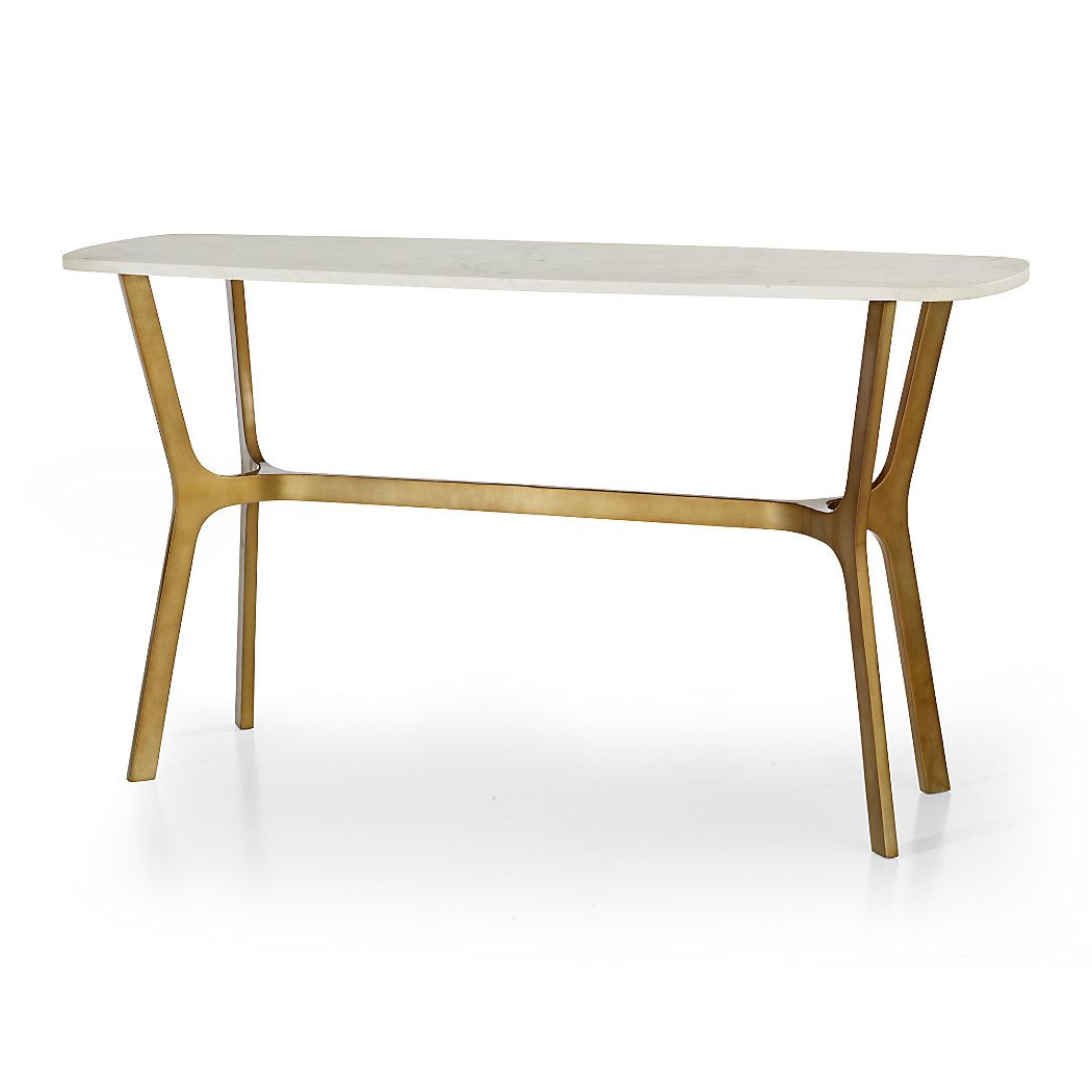 Elke Marble Console Table With Brass Base | Ideas For The House In Elke Marble Console Tables With Brass Base (View 3 of 20)
