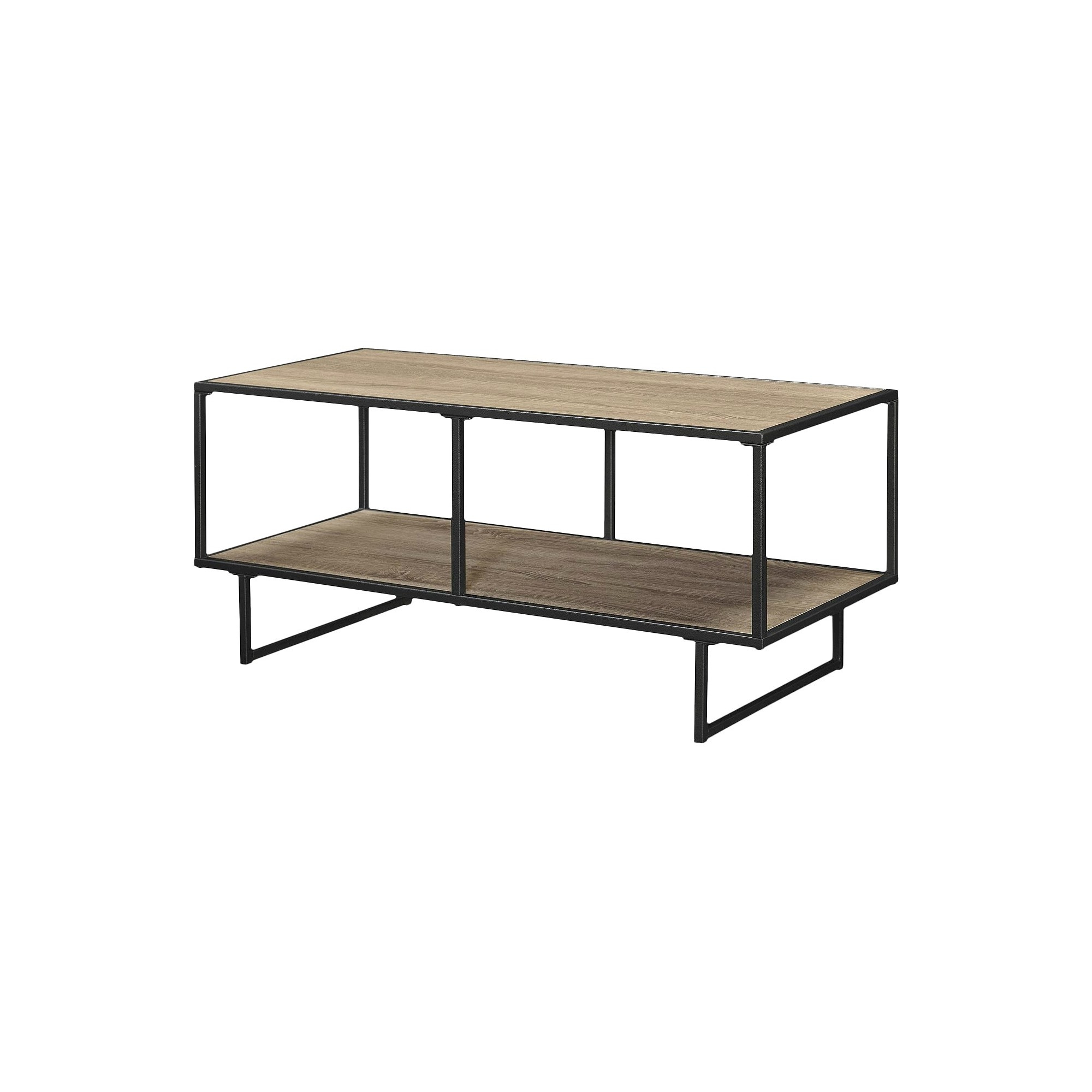Emmett 42 Tv Stand/coffee Table With Metal Frame – Sonoma Oak For Gunmetal Media Console Tables (Gallery 2 of 20)