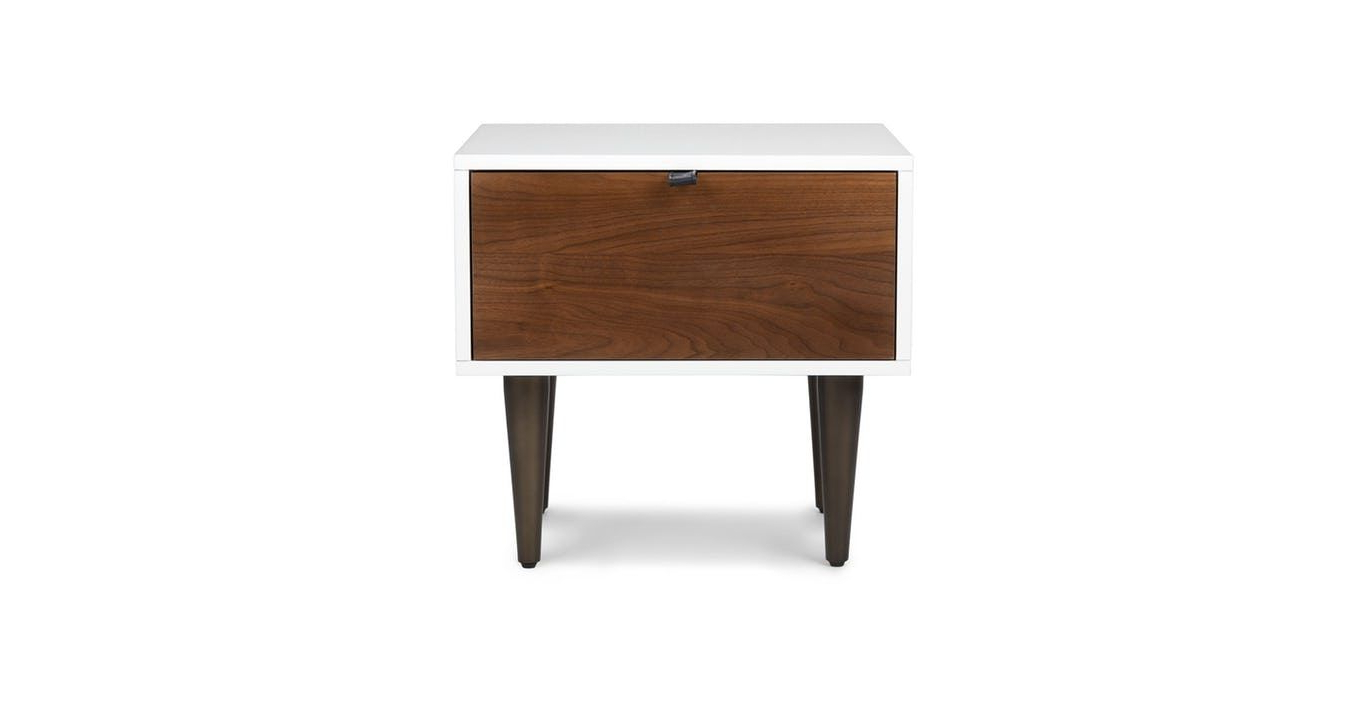Envelo 1 Drawer Nightstand In 2018 | Our Home <3 | Pinterest Throughout Parsons Travertine Top & Elm Base 48x16 Console Tables (View 7 of 17)