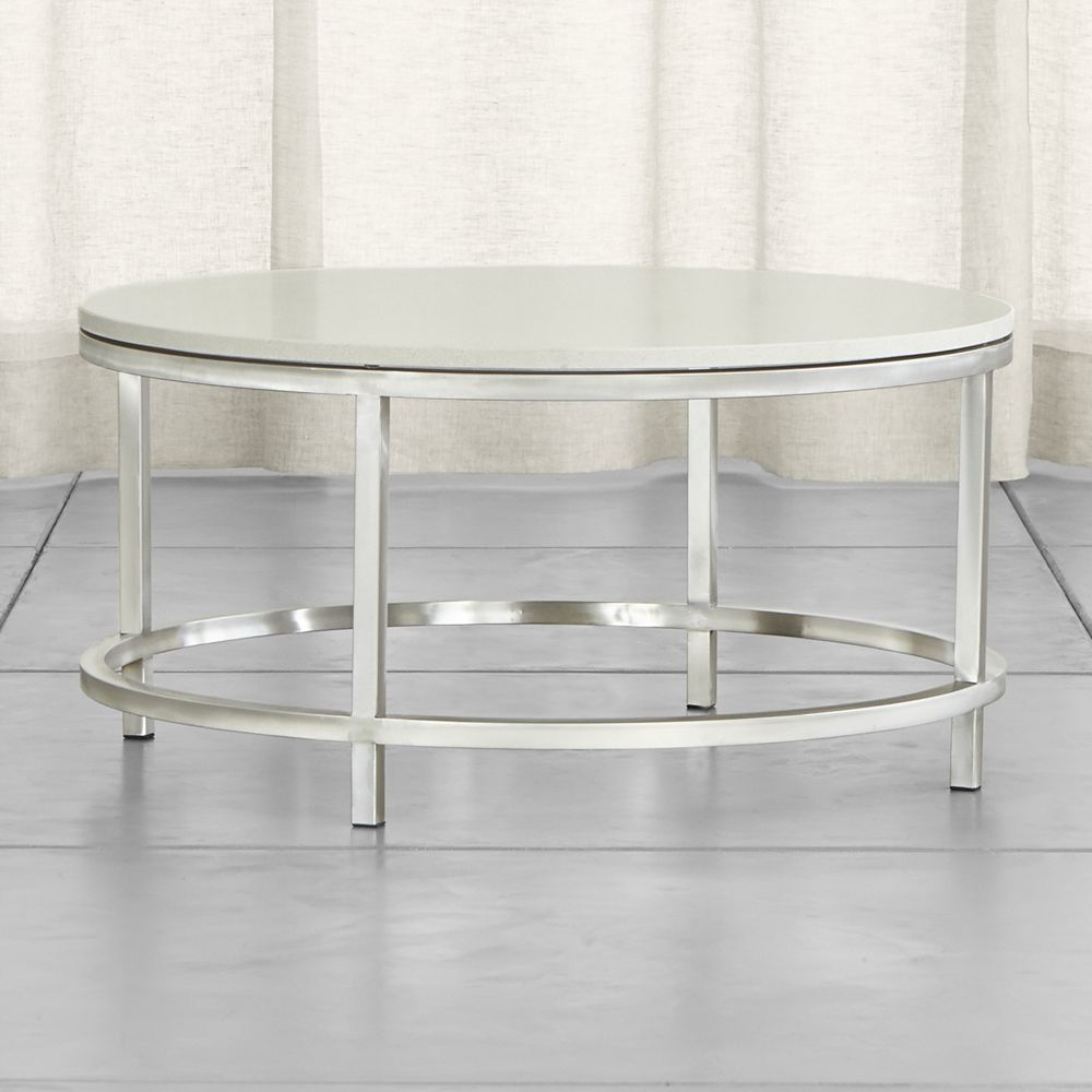 Era Limestone Round Coffee Table | Products | Pinterest | Crates Intended For Era Limestone Console Tables (View 12 of 20)