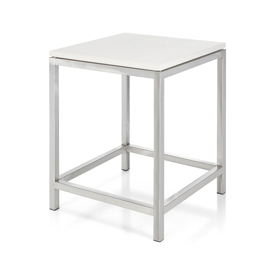 Era Limestone Square Side Table | Master Bedroom | Pinterest For Era Limestone Console Tables (Gallery 7 of 20)
