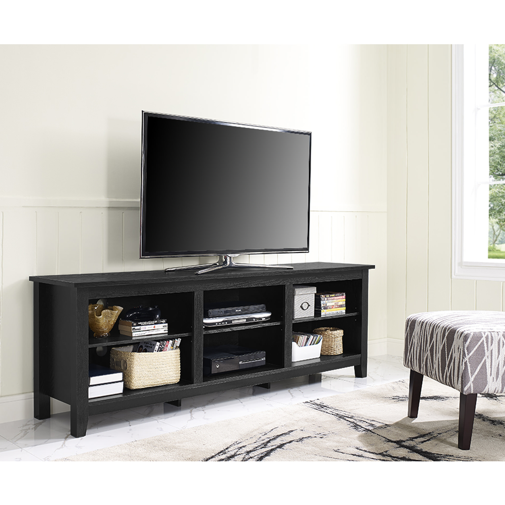 Essentials 70 Inch Tv Stand – Blackwalker Edison Pertaining To Canyon 64 Inch Tv Stands (View 19 of 20)