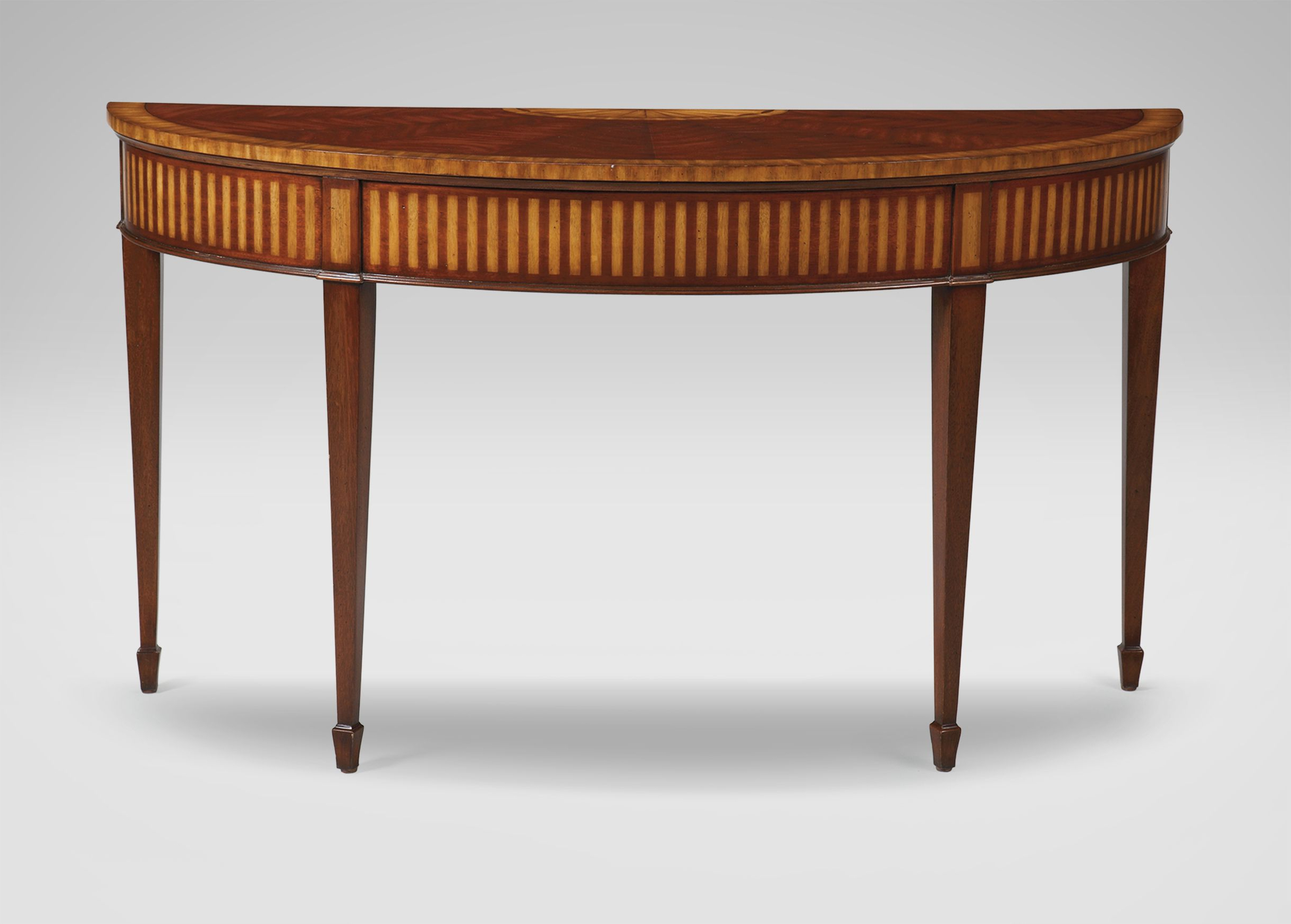 Ethan Allen – Newman Demilune Sofa Table – Only Finish Available With Ethan Console Tables (View 4 of 20)