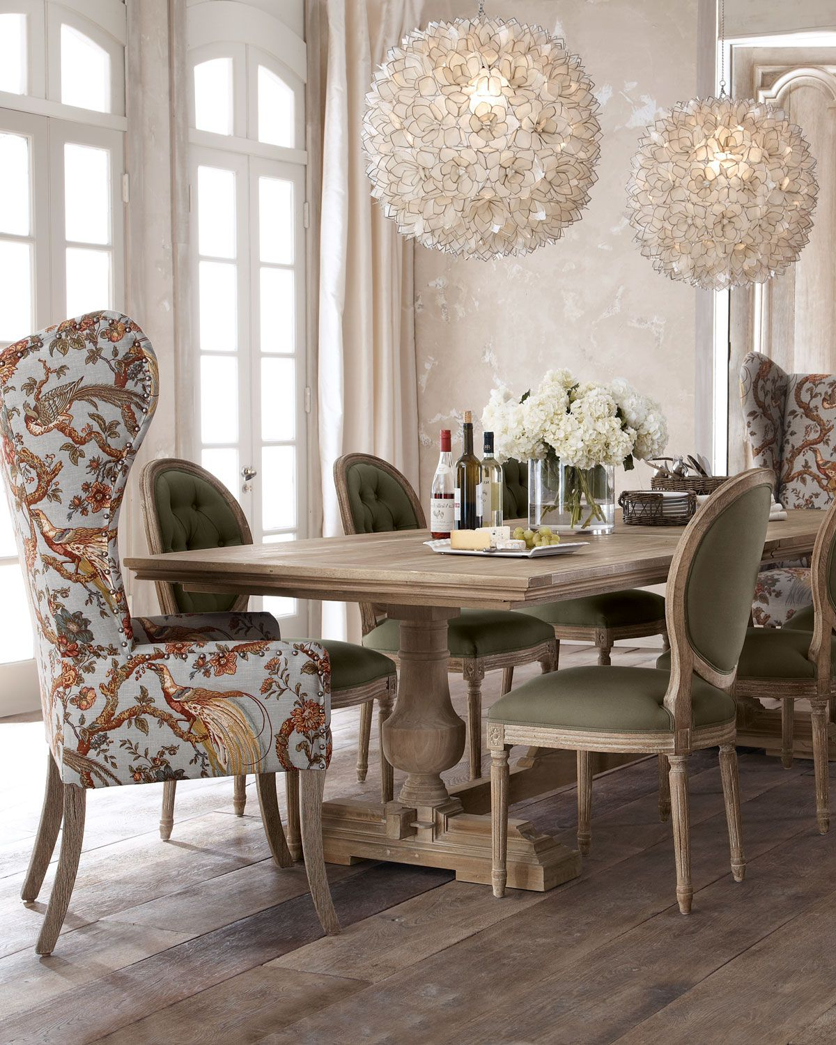 "Evelyn"" Dining Table, ""blanchett"" Side Chair, And ""pheasant"" Host With Regard To Chari Media Center Tables (View 8 of 20)"