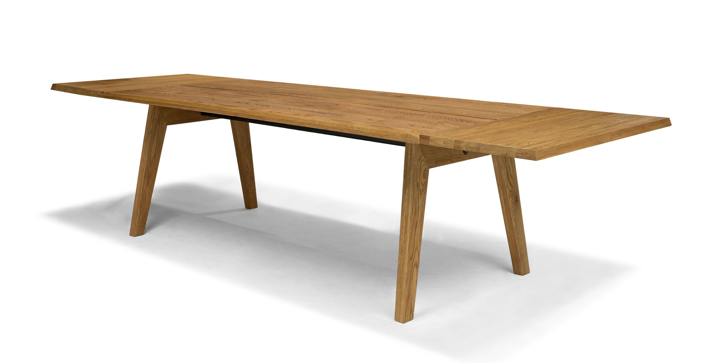 Extendable Dining Table For 12, Solid Wood | Article Madera Modern For Parsons Grey Solid Surface Top & Elm Base 48x16 Console Tables (View 14 of 20)