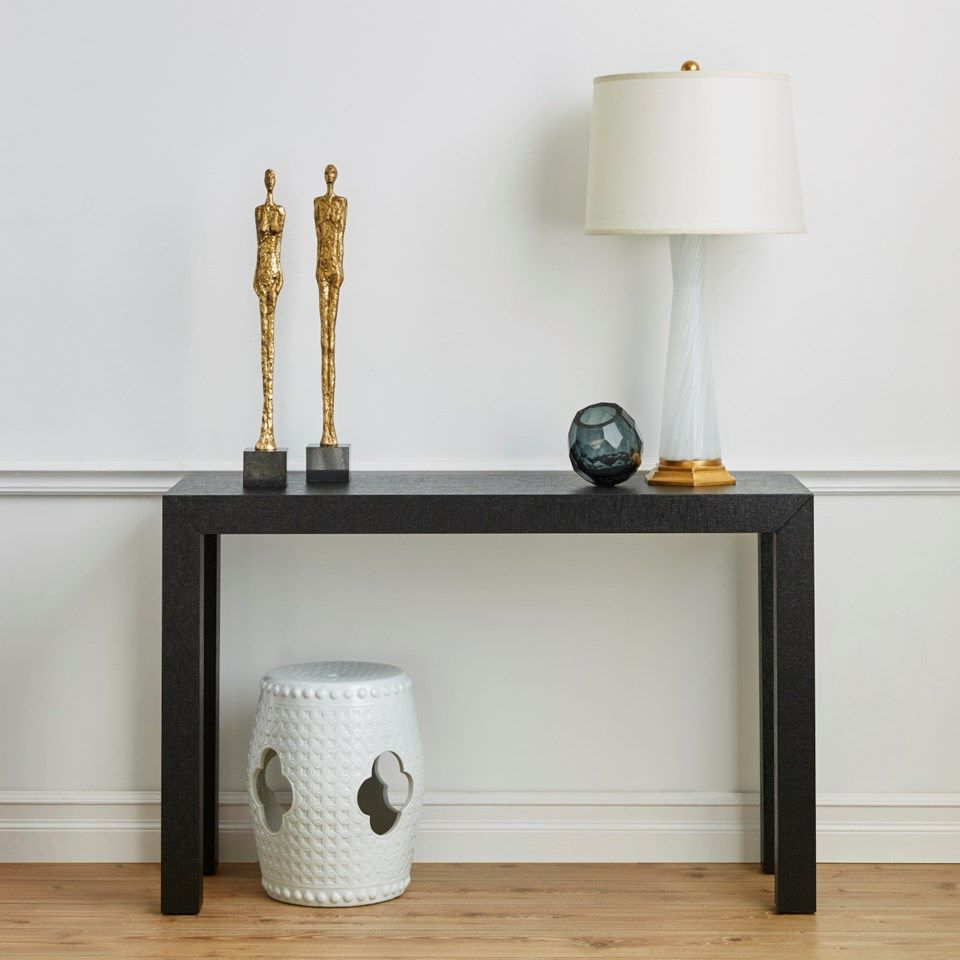 Farnese Lamp (lamp Only), Clear & Gold Leaf – Bungalow 5 | Trents Pertaining To Parsons Grey Marble Top & Dark Steel Base 48x16 Console Tables (View 19 of 20)