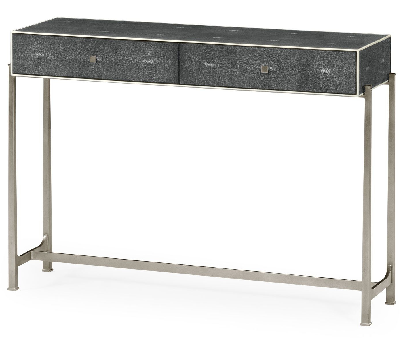Faux Anthracite Shagreen Console With Silver Base | Santana Inside Faux Shagreen Console Tables (Gallery 13 of 20)