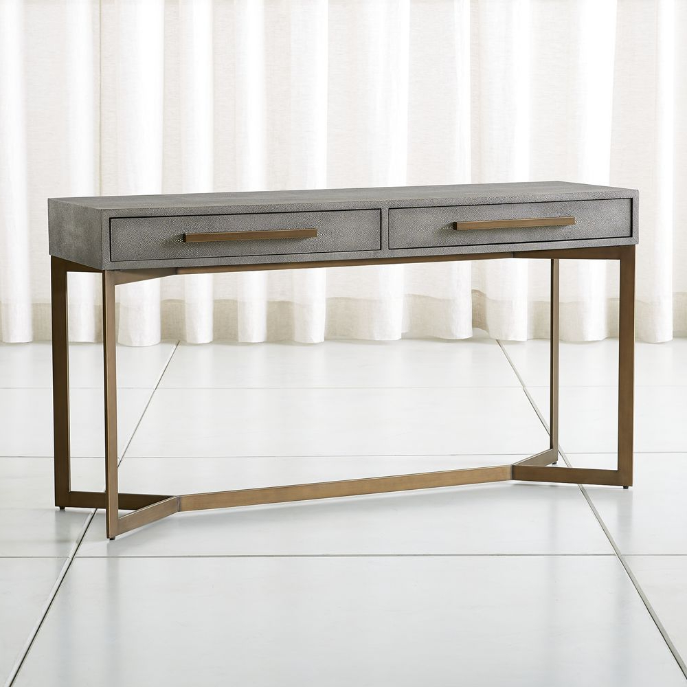 Faux Shagreen Console Table | Products | Console Table, Console, Table With Regard To Remi Console Tables (View 4 of 20)