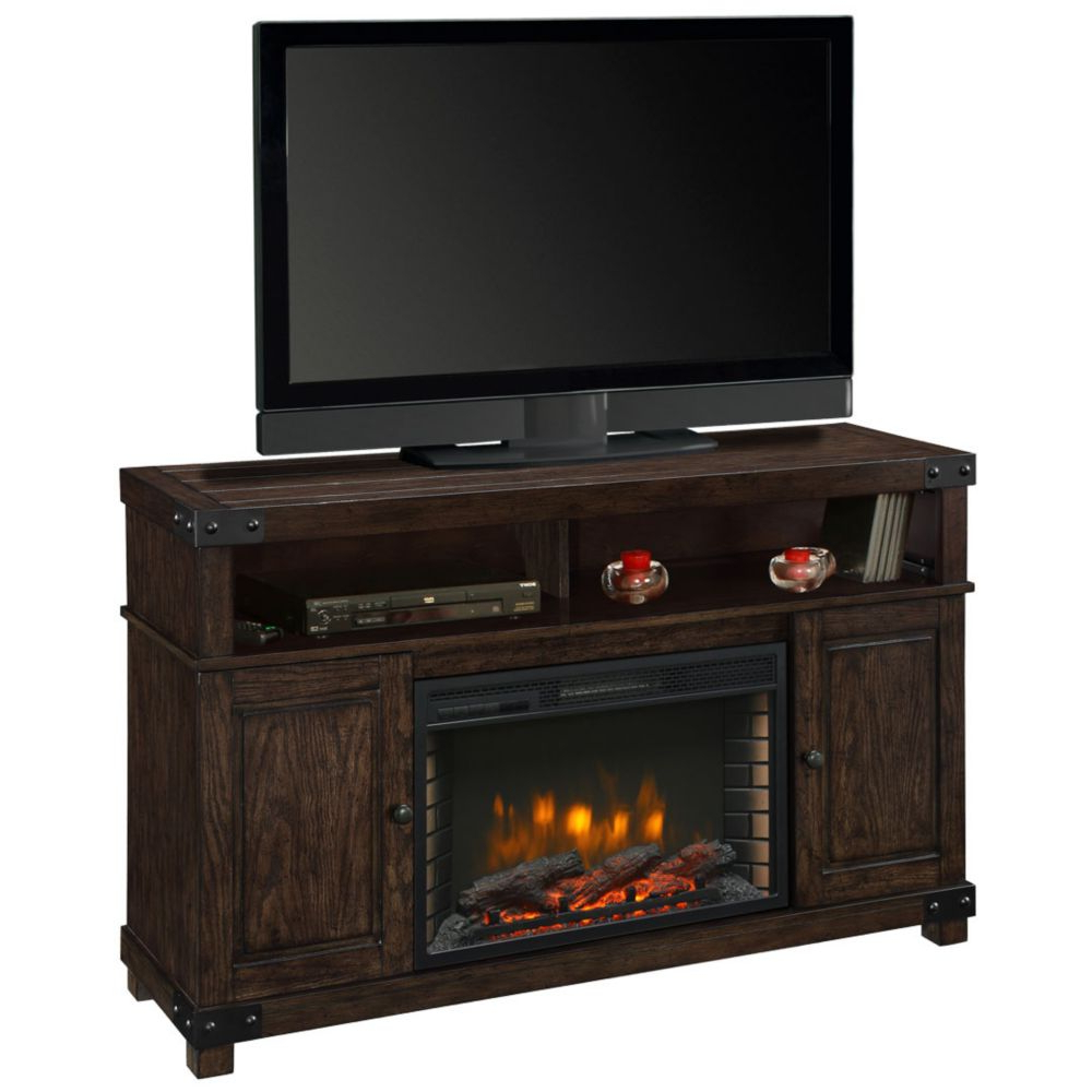 Fireplace Tv Stands | The Home Depot Canada In Sinclair White 74 Inch Tv Stands (View 4 of 20)