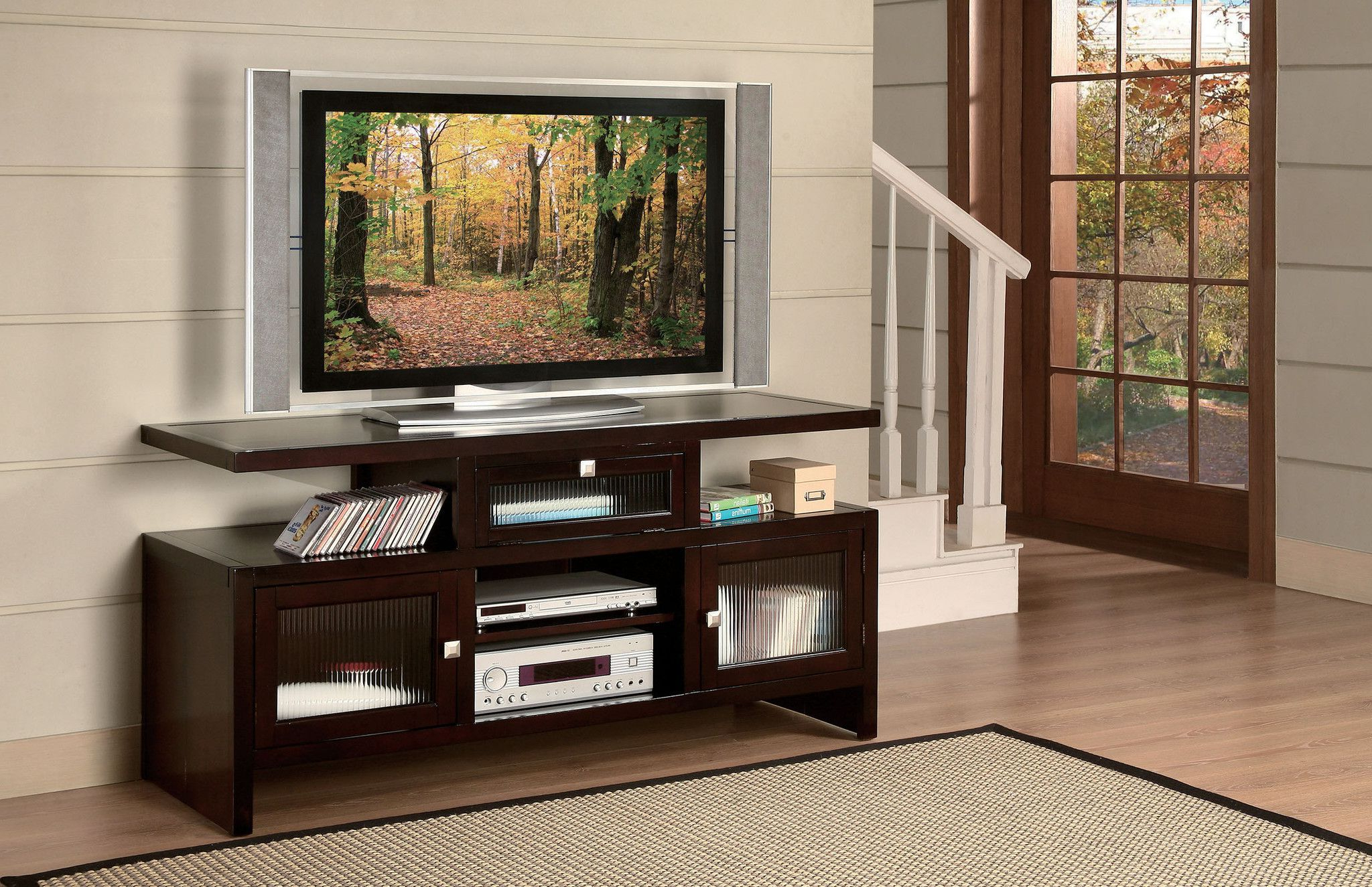 Folding Tv Stand | Tv Stand | Pinterest | Furniture, Acme Furniture Pertaining To Forma 65 Inch Tv Stands (Gallery 16 of 20)