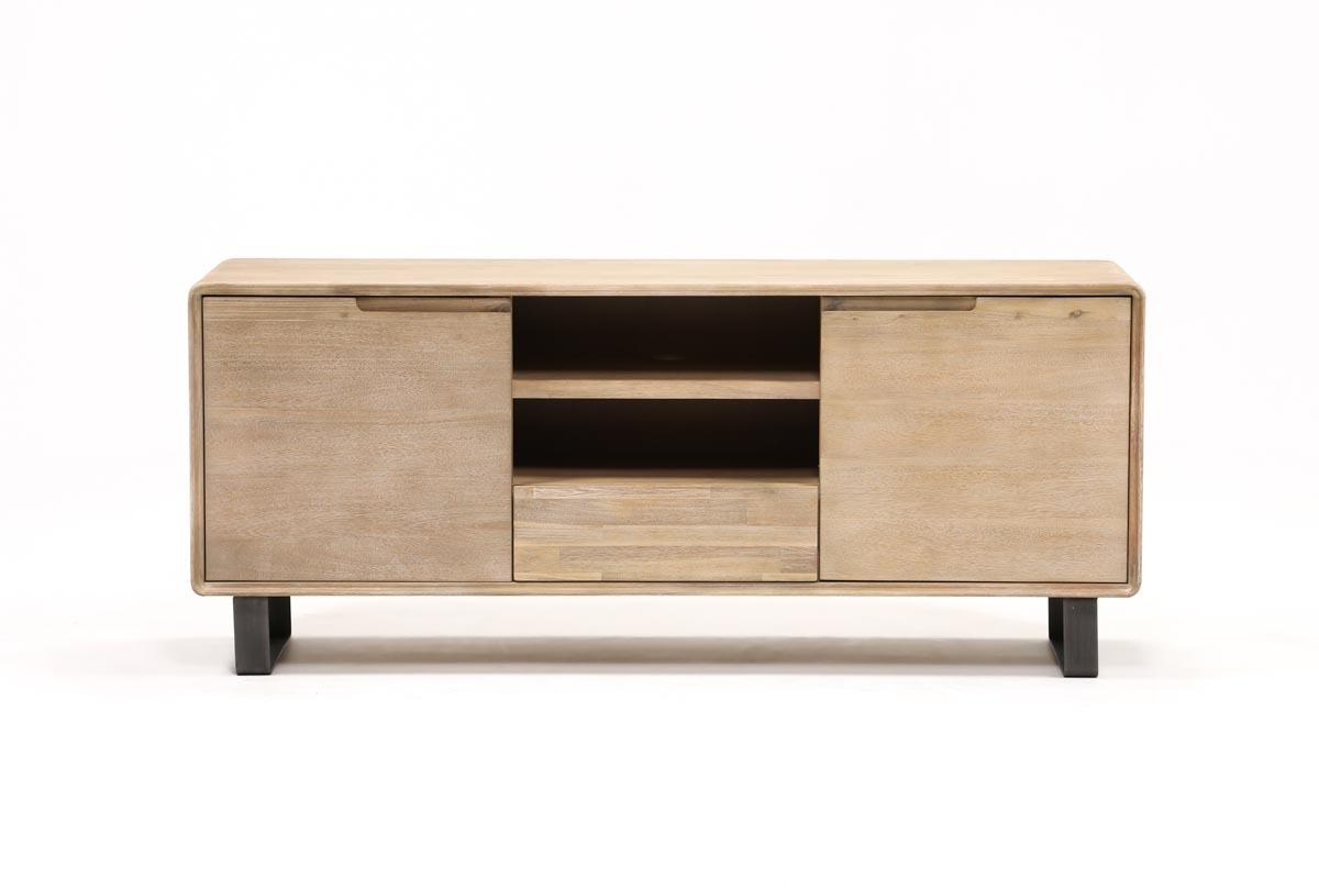 Forma 65 Inch Tv Stand | Living Spaces Intended For Melrose Titanium 65 Inch Lowboy Tv Stands (View 2 of 18)