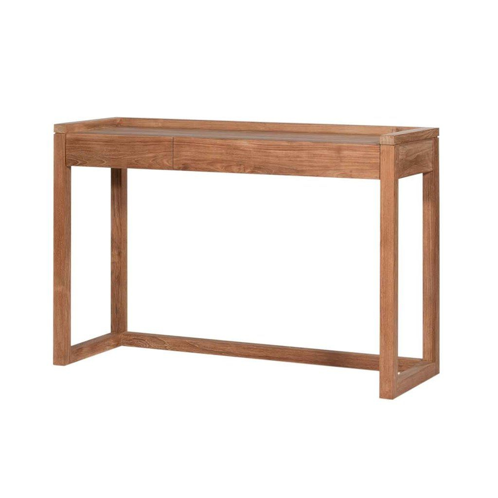 Frame Pc Console – Teak | Furniture Throughout Parsons White Marble Top & Dark Steel Base 48X16 Console Tables (Gallery 12 of 20)