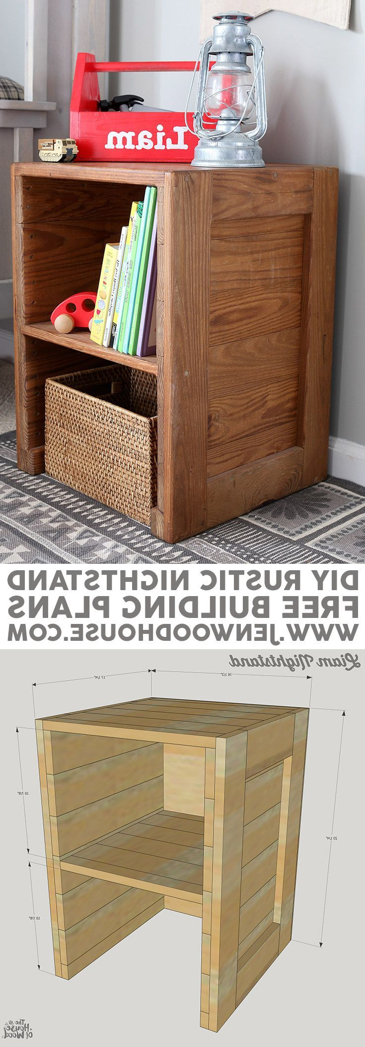 Free Plans: Diy Rustic Nightstand | #scrapworklove #getbuilding2015 With Regard To Marvin Rustic Natural 60 Inch Tv Stands (View 10 of 20)