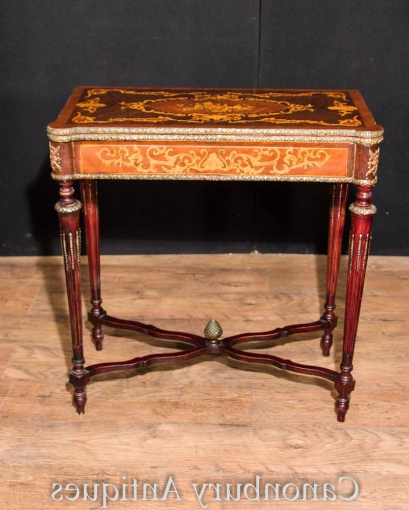 Featured Photo of Orange Inlay Console Tables