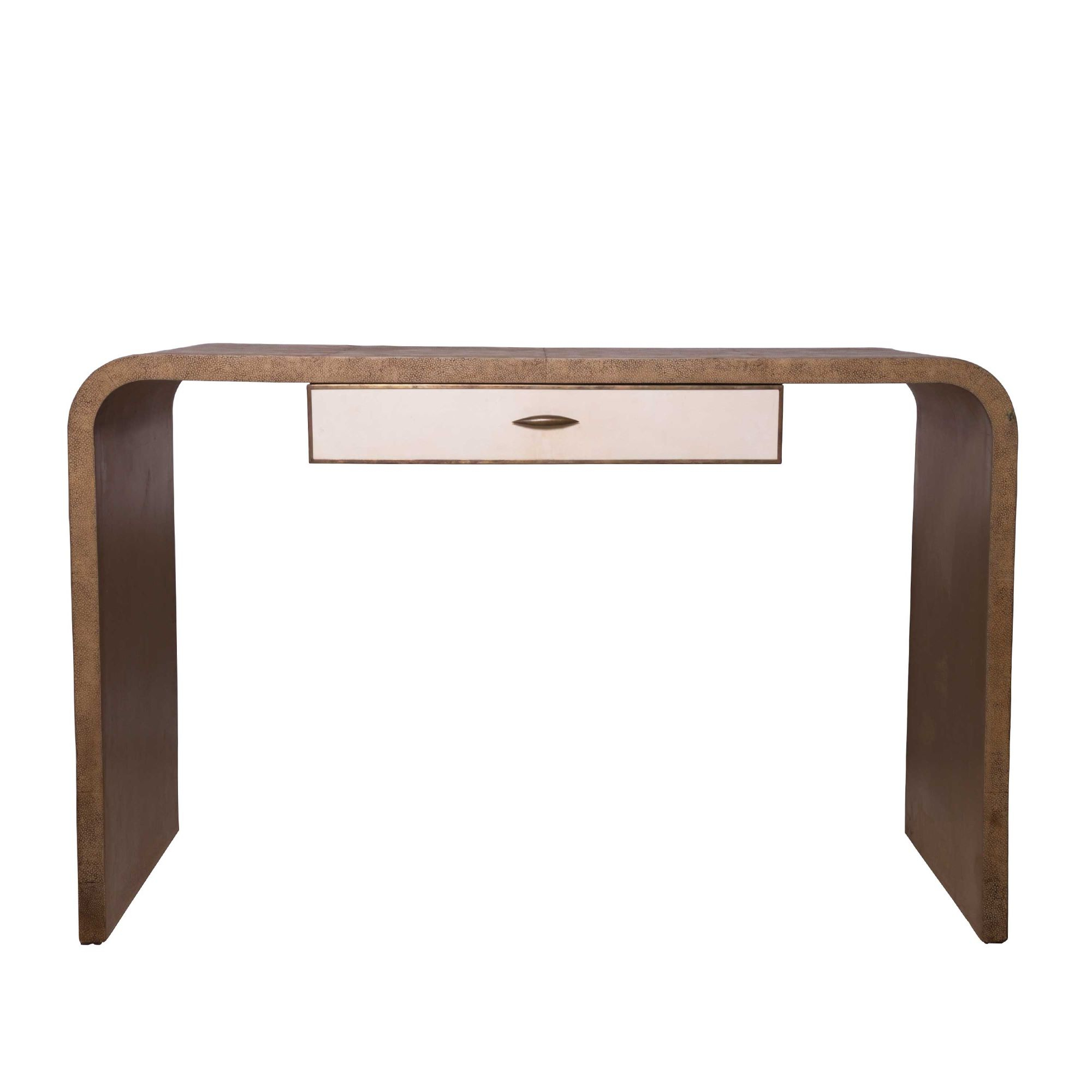 French Shagreen Console Table Within Grey Shagreen Media Console Tables (View 3 of 20)
