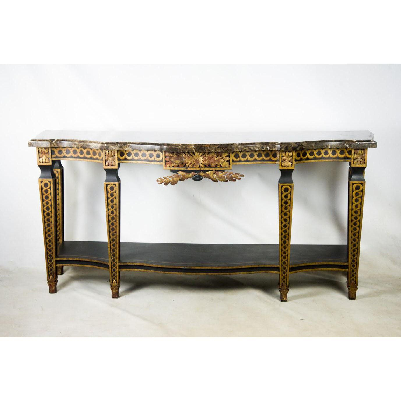 French Style Granite Top Console Table | Console Table | Console With Regard To Roman Metal Top Console Tables (View 9 of 20)