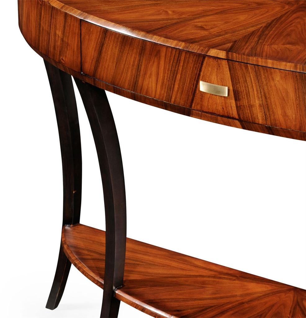 Furniture: Art Deco Demilune Console Table 17 Pertaining To Clairemont Demilune Console Tables (Gallery 15 of 20)