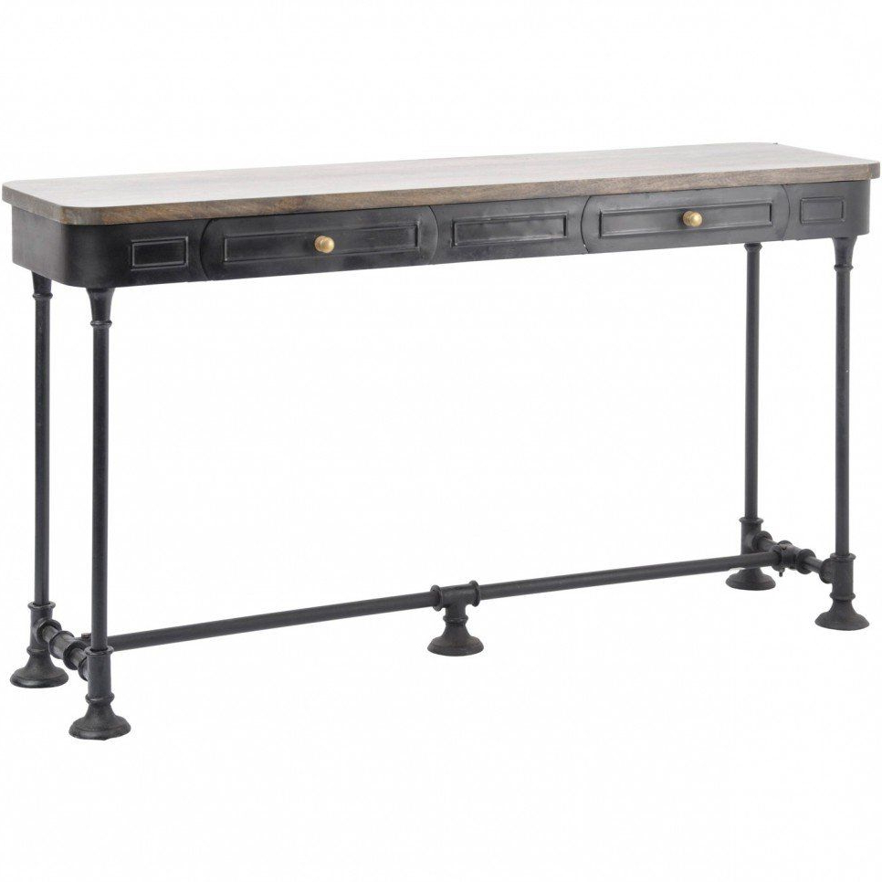 Furniture, Old And Vintage Long Narrow Console Table With Drawer And Inside Ventana Display Console Tables (View 12 of 20)