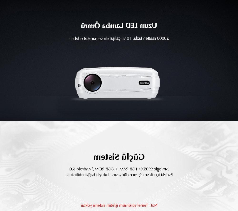 Gearbest Tr: Alfawise X 3200 Lümen Hd 1080p Akıllı Projektör 4k Destekli Pertaining To Kilian Grey 49 Inch Tv Stands (View 15 of 20)