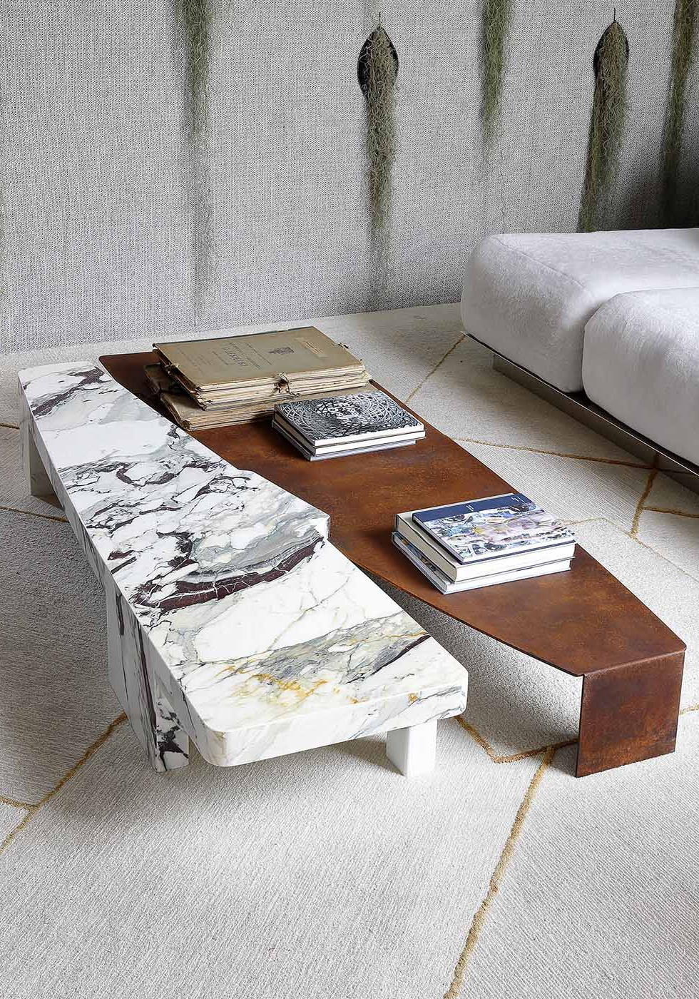 Geo Organic — Galvan Cedillo Within Scattered Geo Console Tables (View 10 of 20)