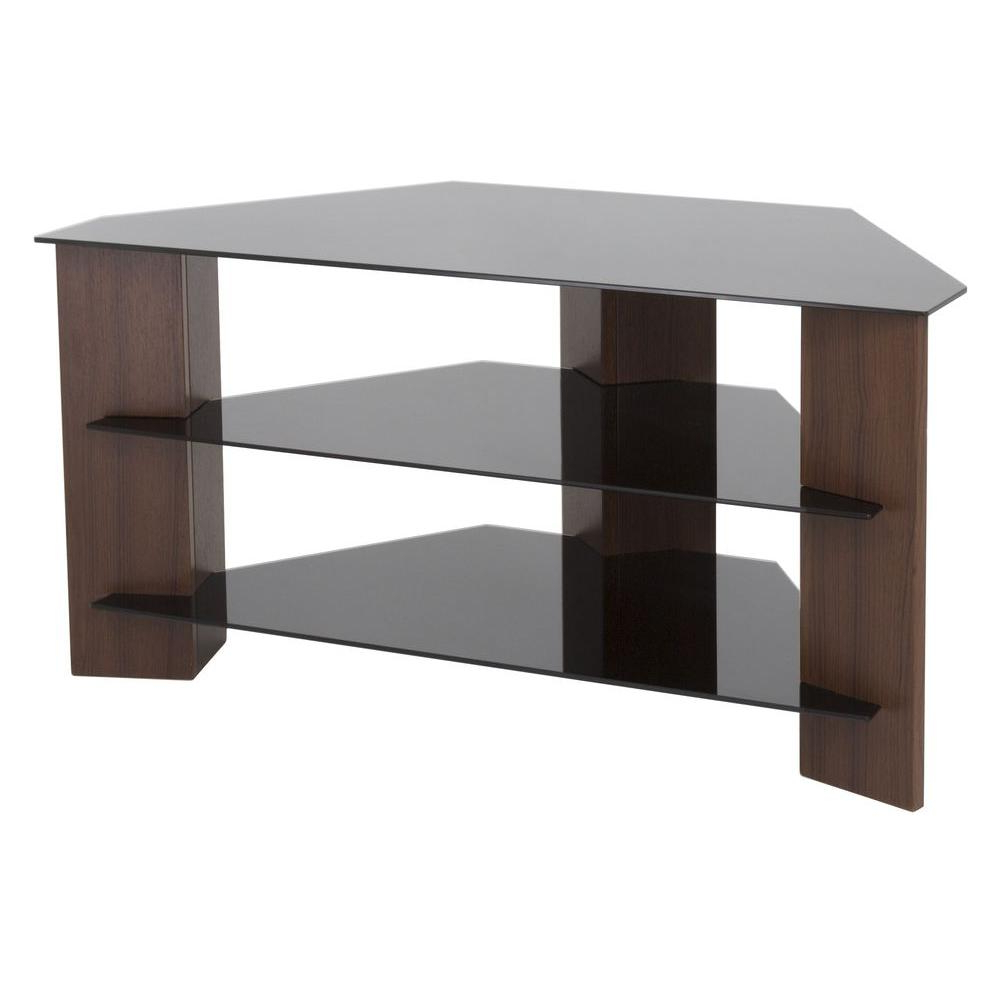 Glass – Tv Stands – Living Room Furniture – The Home Depot In Maddy 70 Inch Tv Stands (View 10 of 20)