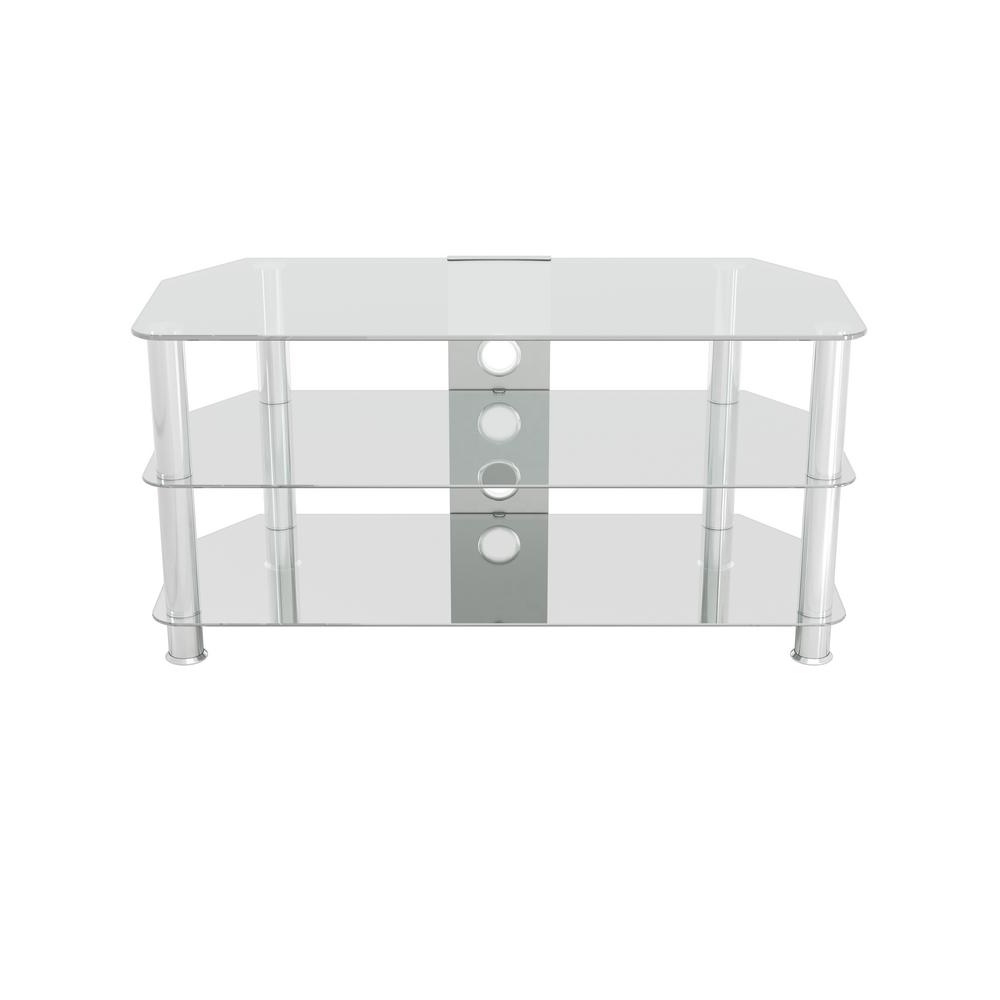 Glass – Tv Stands – Living Room Furniture – The Home Depot Intended For Maddy 60 Inch Tv Stands (View 17 of 20)