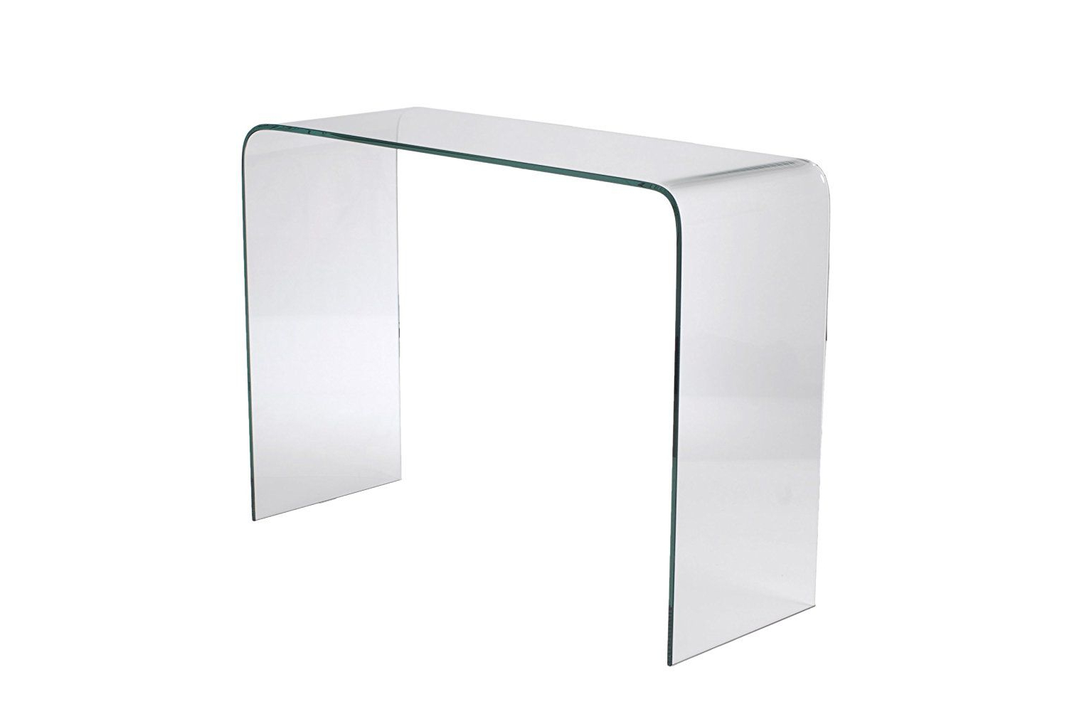 Glass Waterfall Console Table – The Concept With Regard To Era Glass Console Tables (View 15 of 20)
